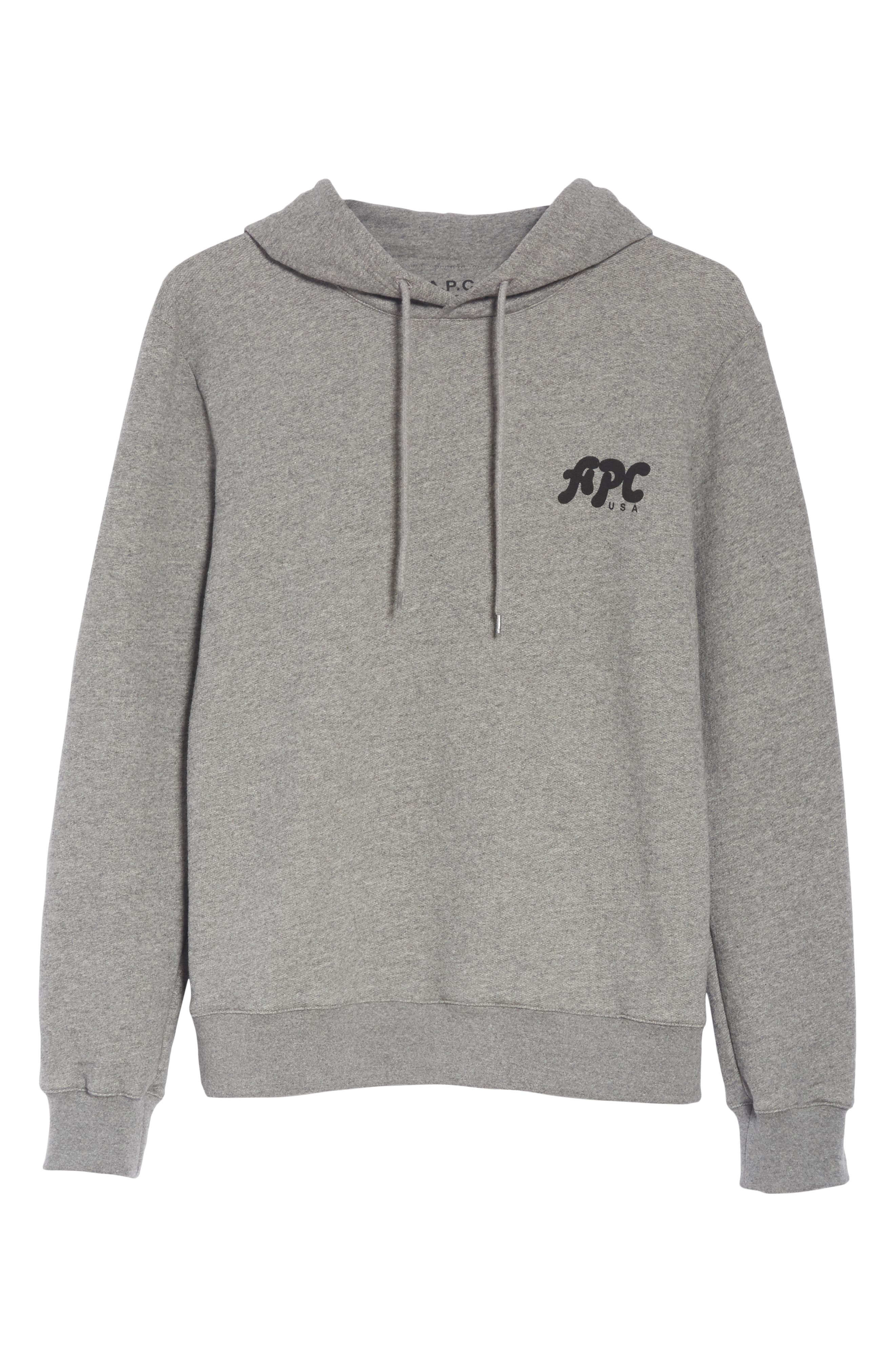 New Logo Graphic Hoodie,                             Alternate thumbnail 6, color,                             PLA GRIS