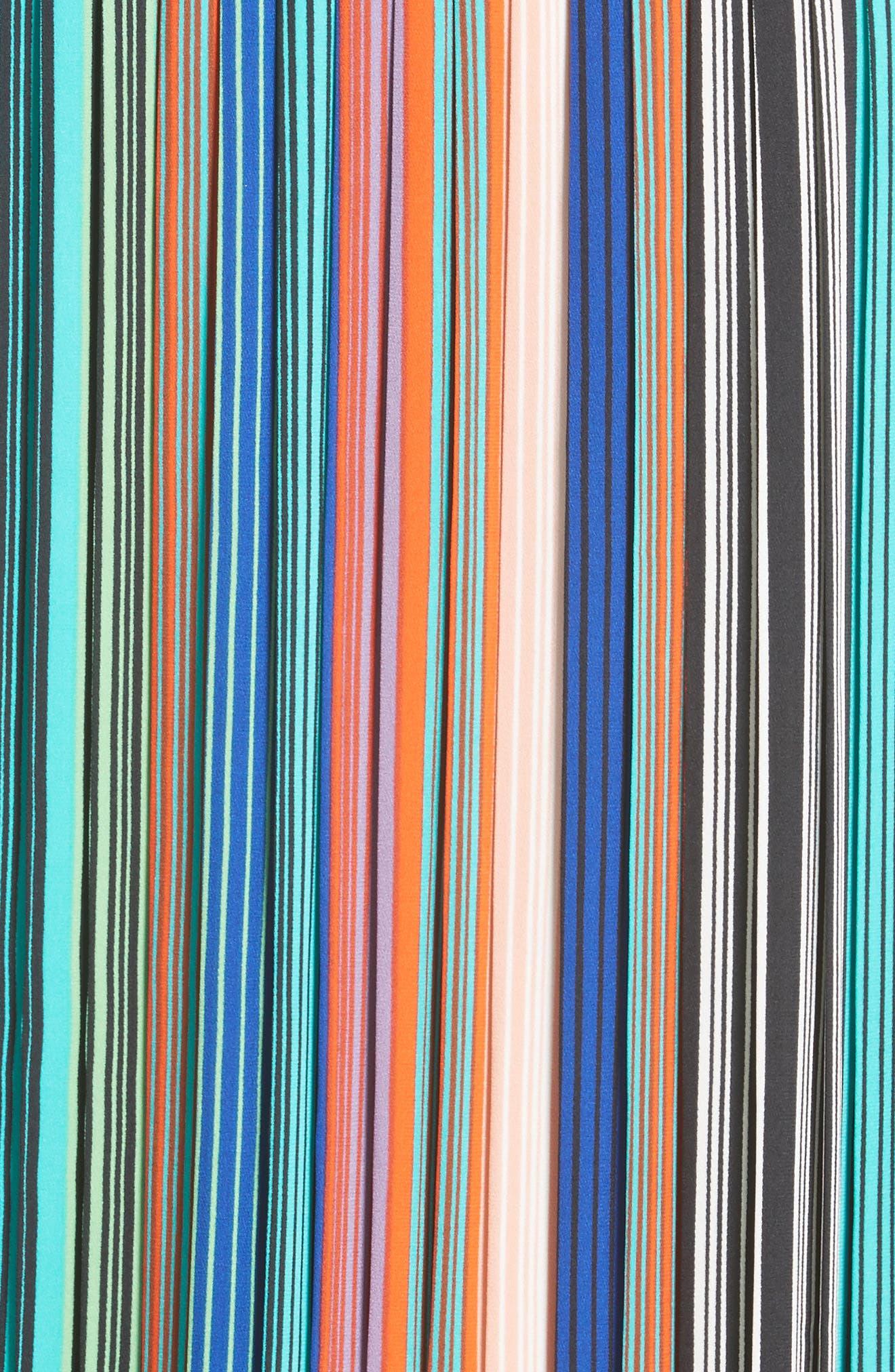Stripe Asymmetrical Overlay Midi Skirt,                             Alternate thumbnail 5, color,                             207