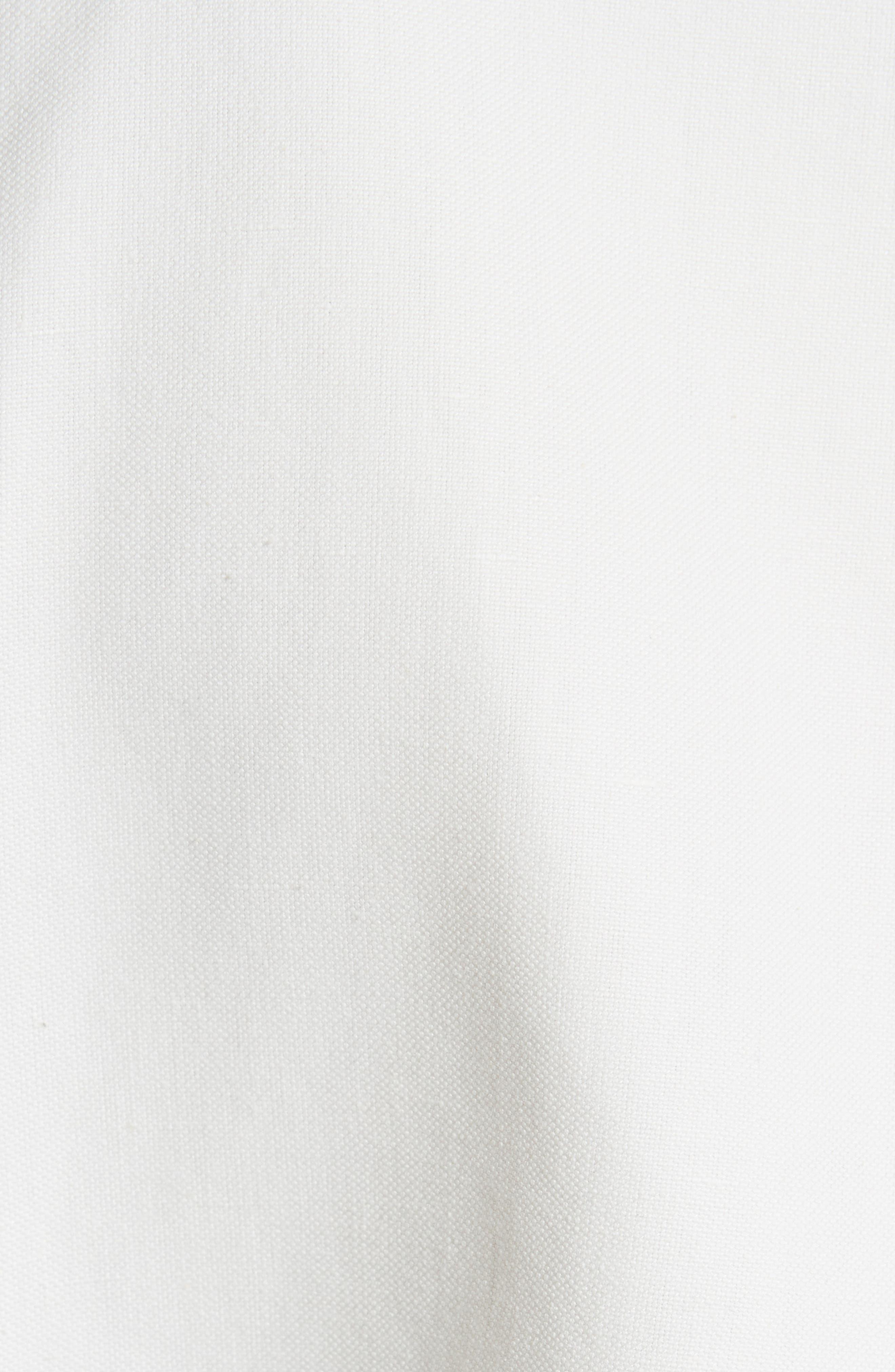 Linen & Cotton Puff Sleeve Top,                             Alternate thumbnail 5, color,                             900