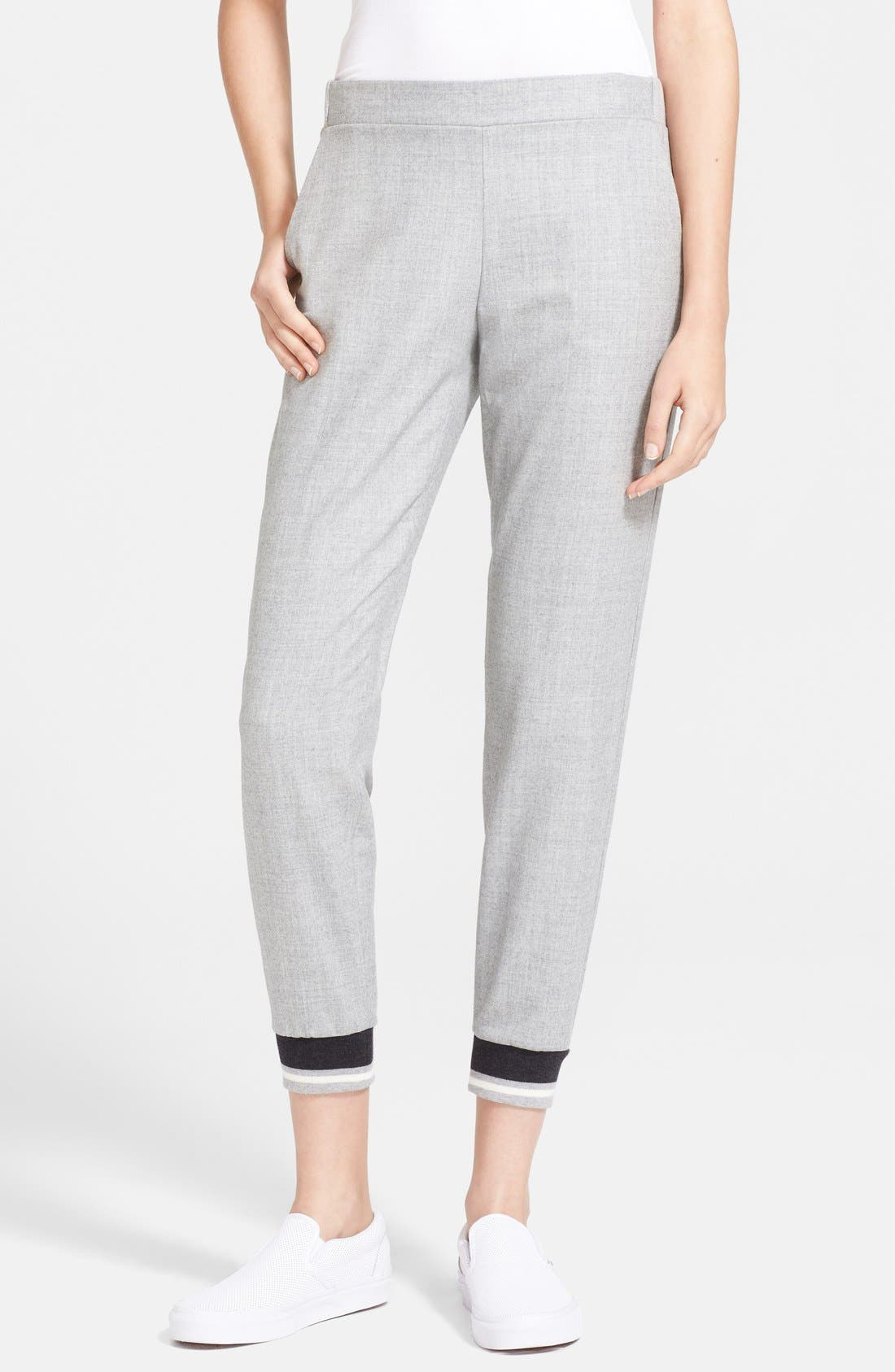 THEORY 'Rumdiby' Flannel Track Pants, Main, color, 020