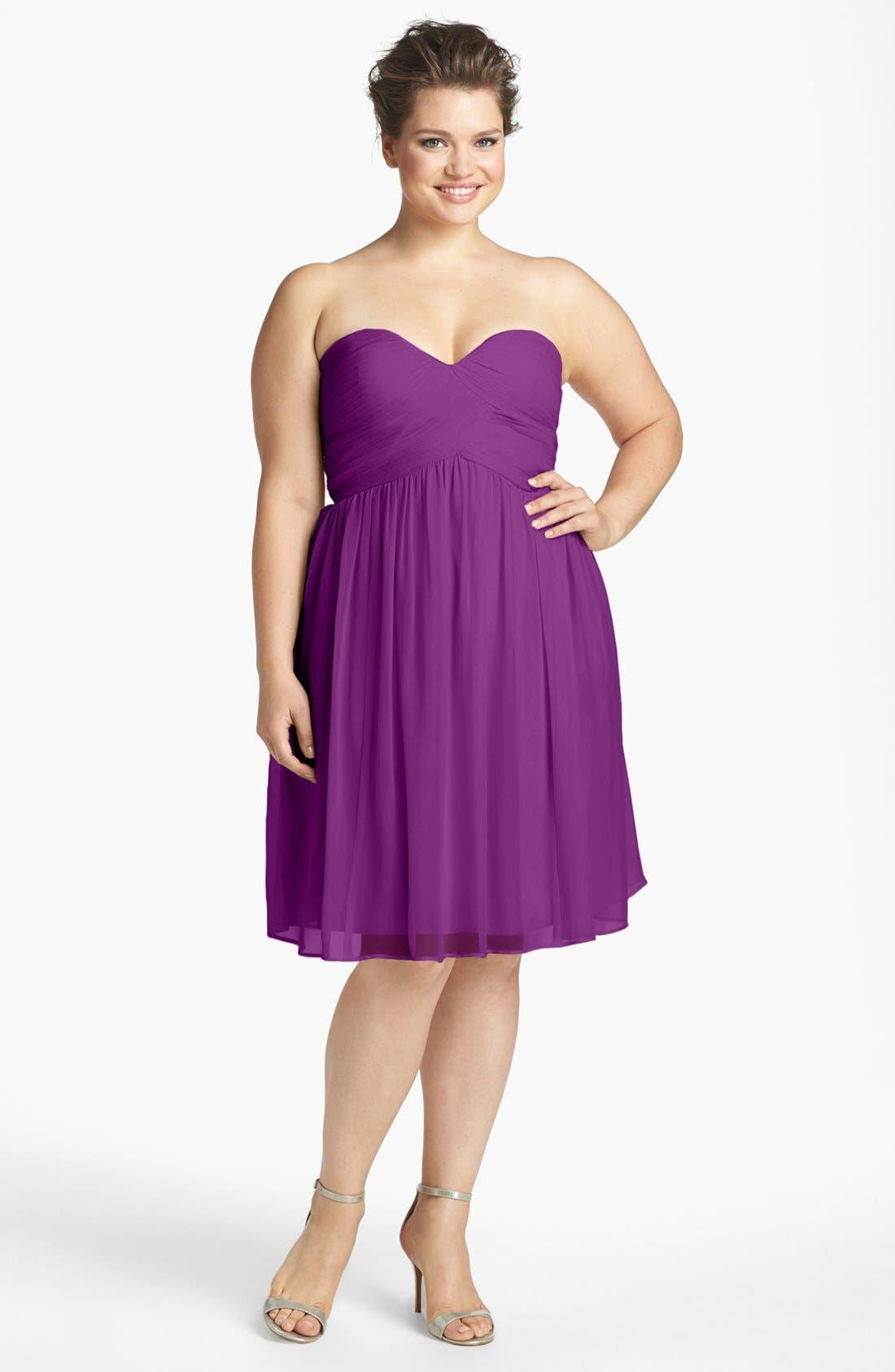 'Morgan' Strapless Silk Chiffon Dress,                             Alternate thumbnail 61, color,