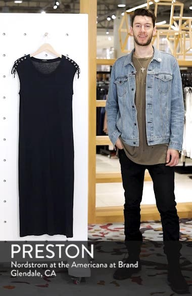 Lace-up Shoulder Jersey Midi Dress, sales video thumbnail