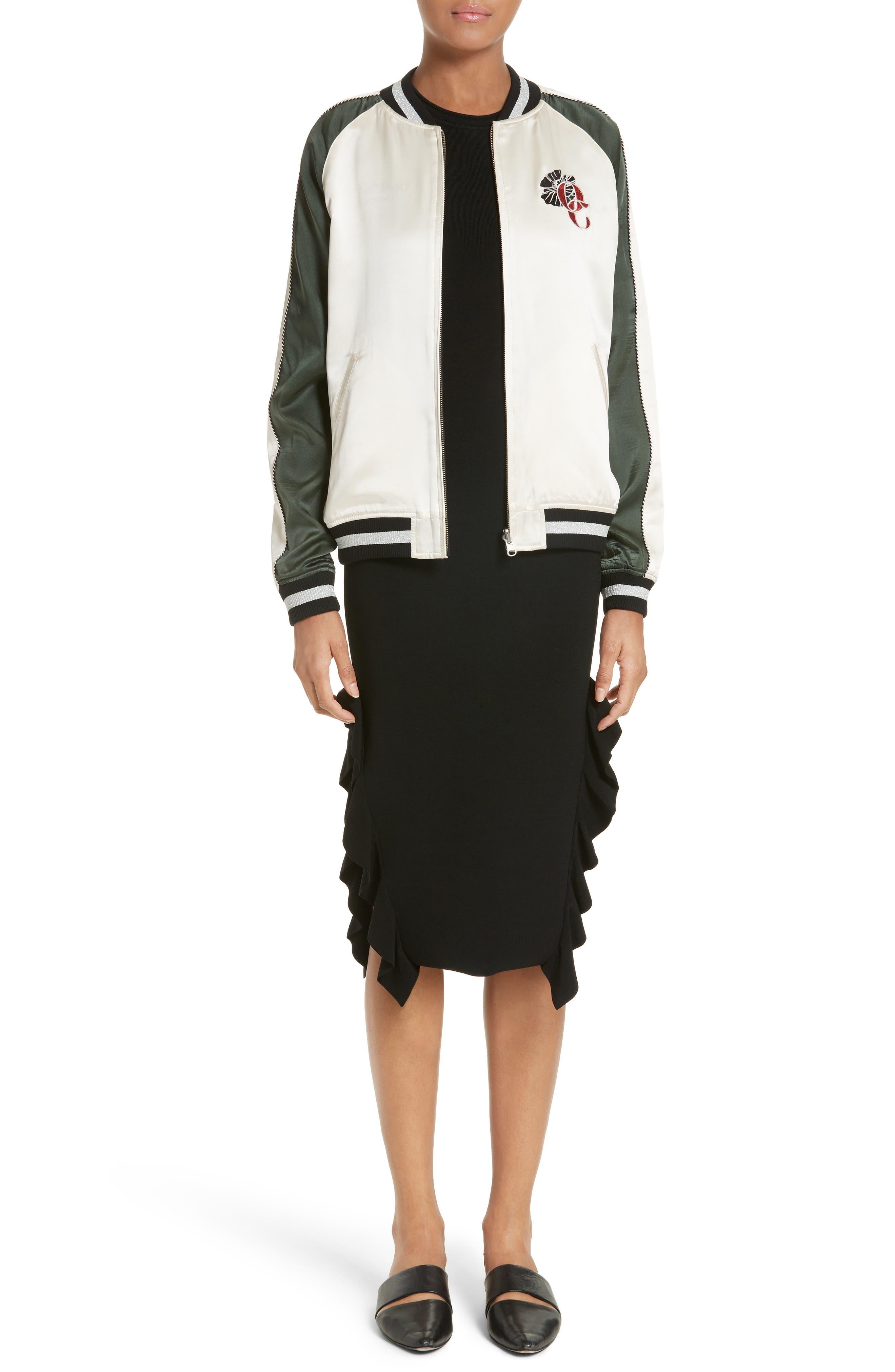 Flounce Hem Dress,                         Main,                         color, 001
