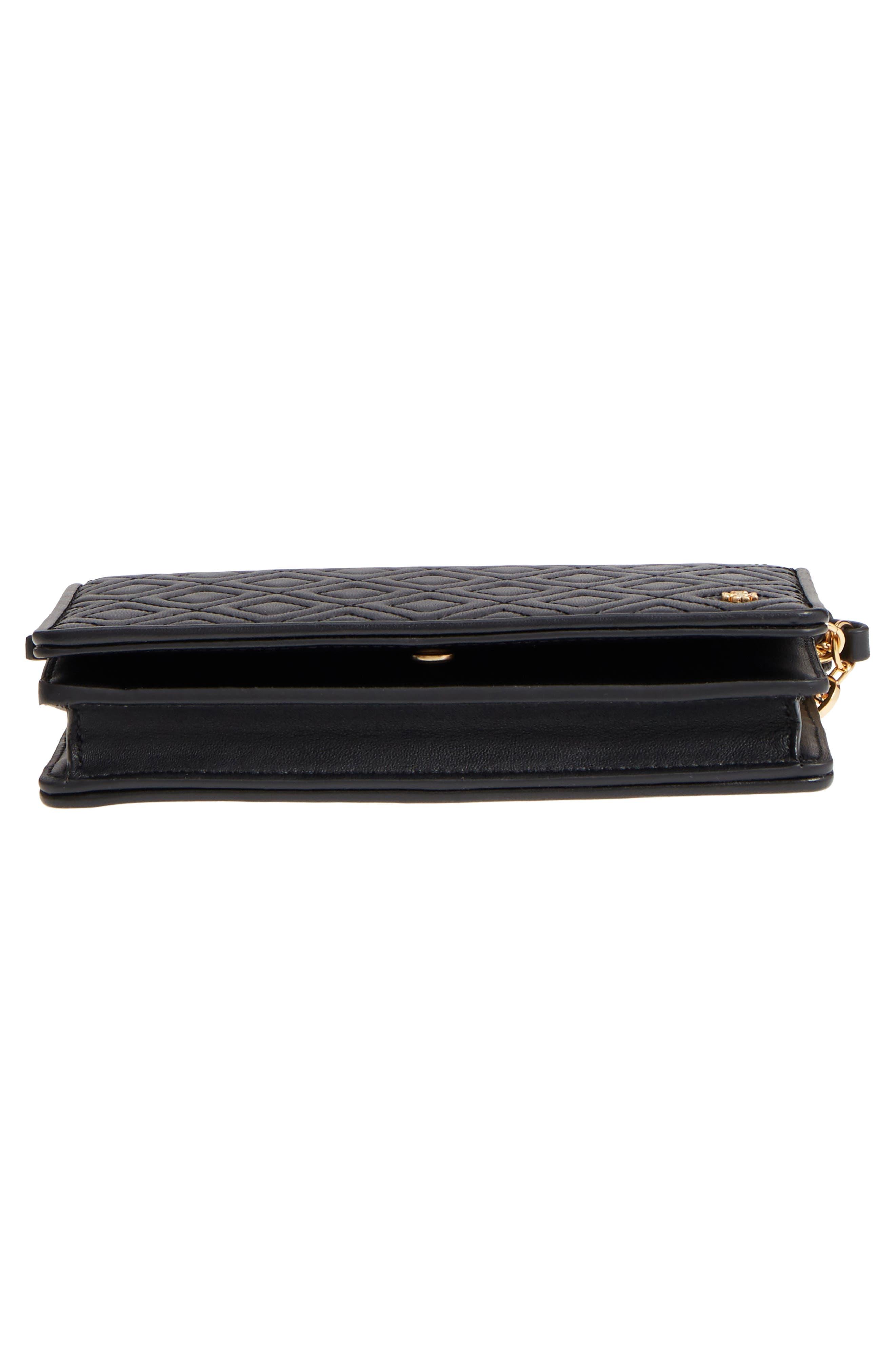 Fleming Leather Wallet/Crossbody,                             Alternate thumbnail 6, color,                             BLACK
