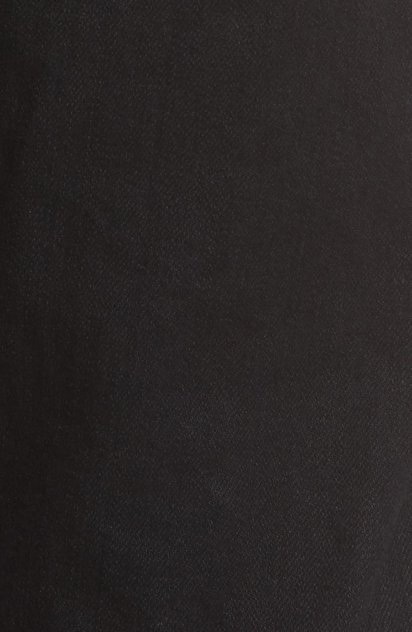 Fit 3 Slim Straight Leg Jeans,                             Alternate thumbnail 5, color,                             BLACK