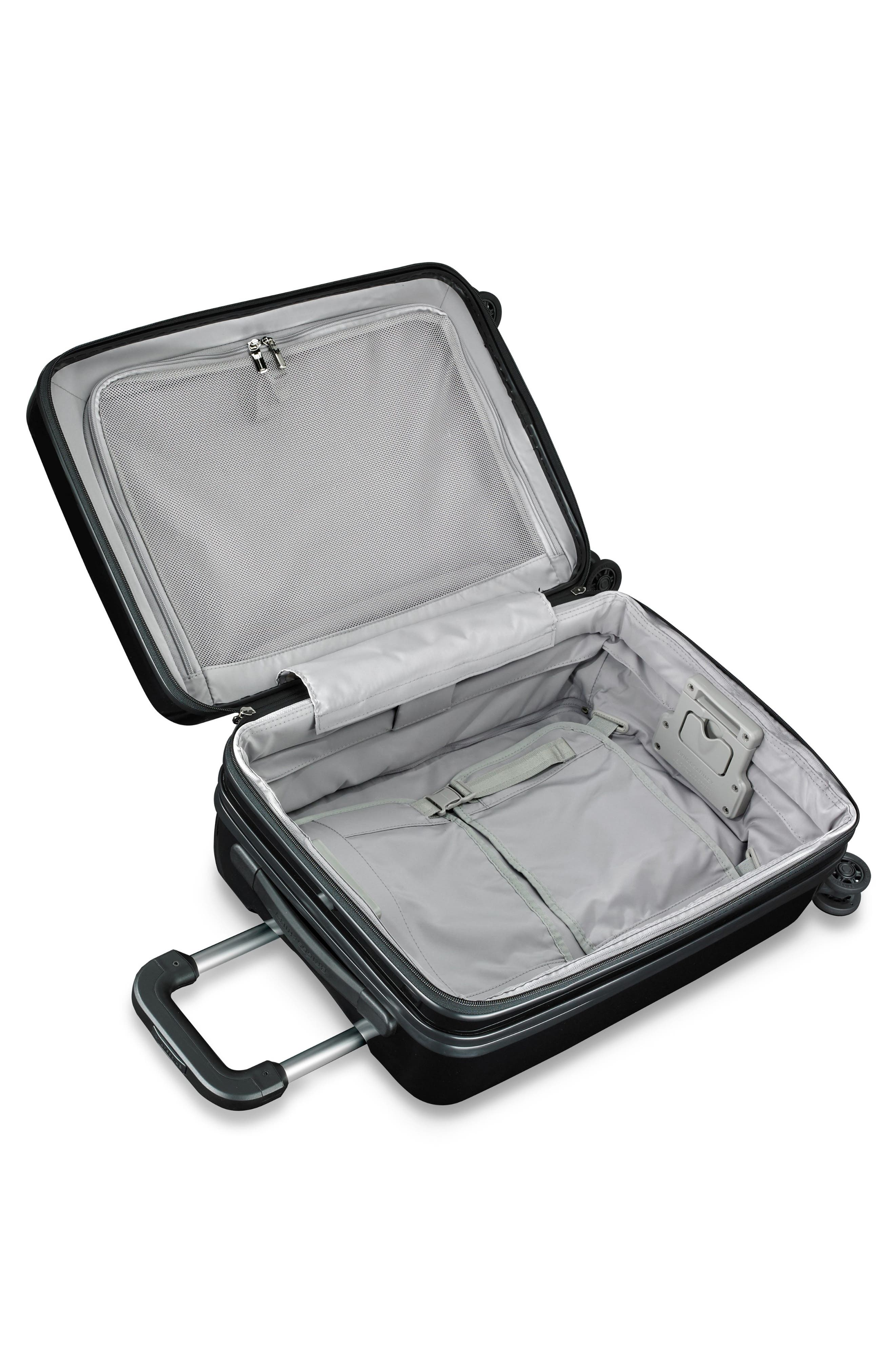 22-Inch Domestic Expandable Spinner Wheeled Carry-On,                             Alternate thumbnail 2, color,                             ONYX GLOSS