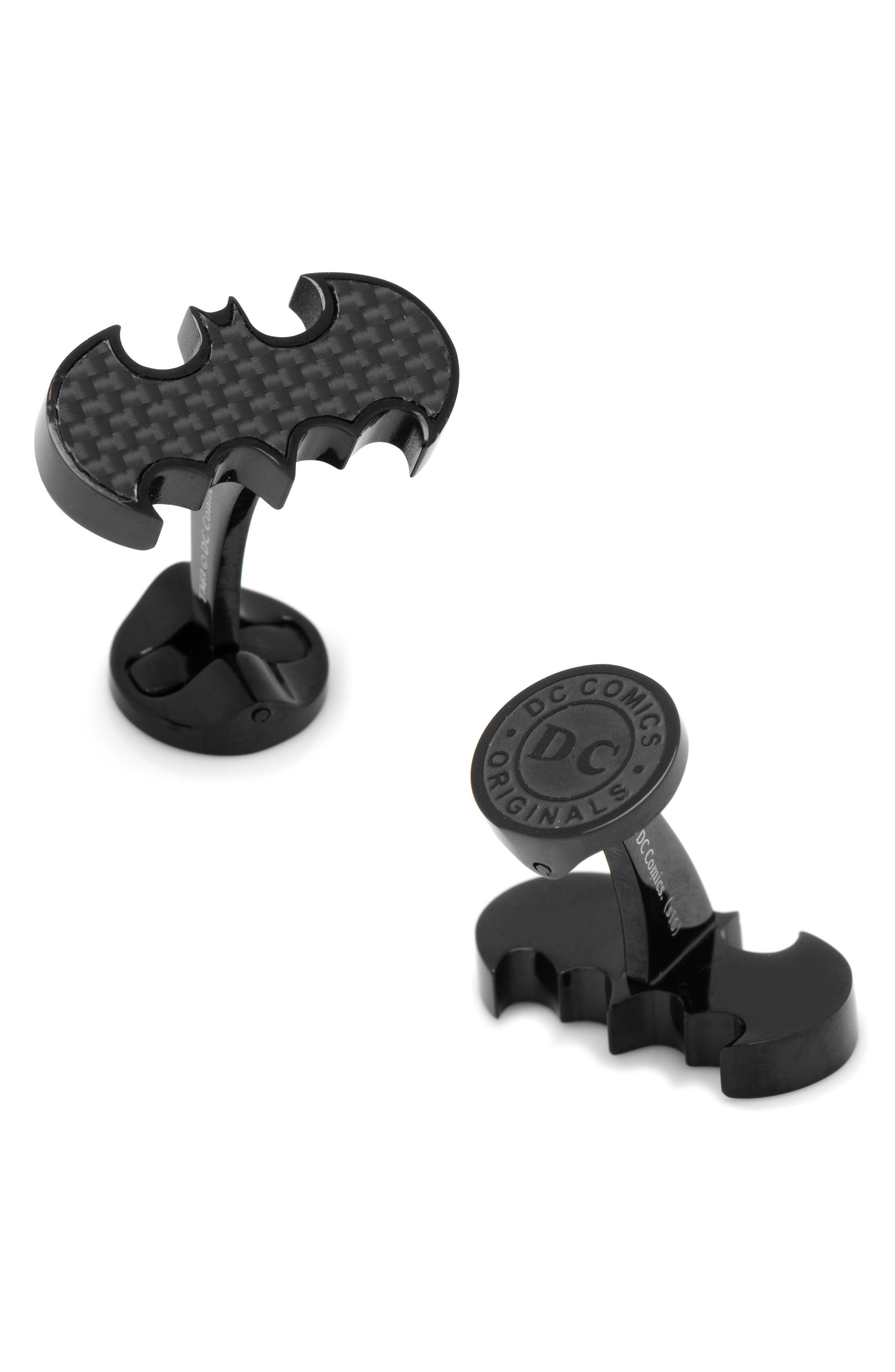 Batman Cuff Links,                         Main,                         color, BLACK
