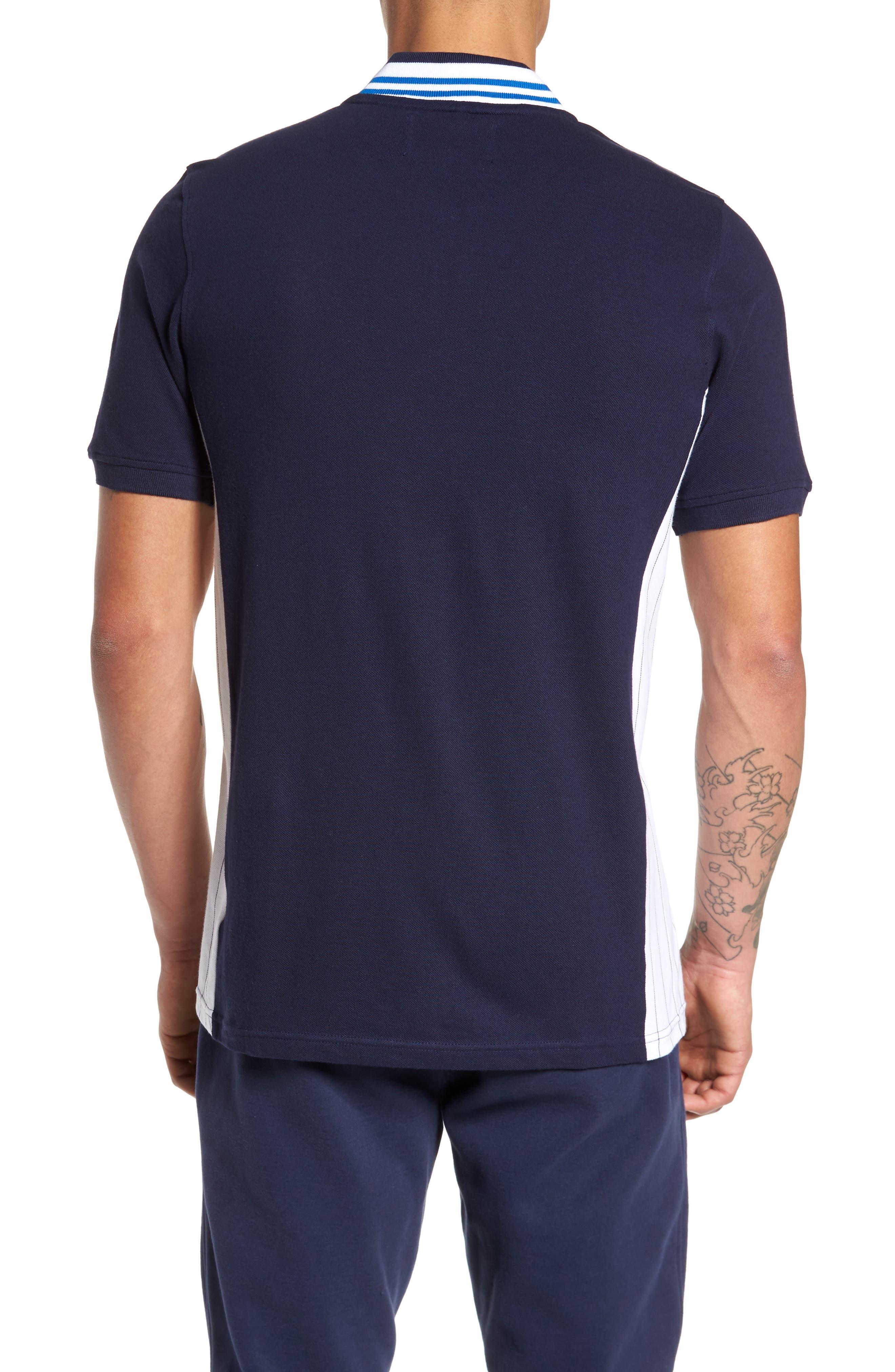 Moretti Short Sleeve Zip Henley Shirt,                             Alternate thumbnail 2, color,                             001