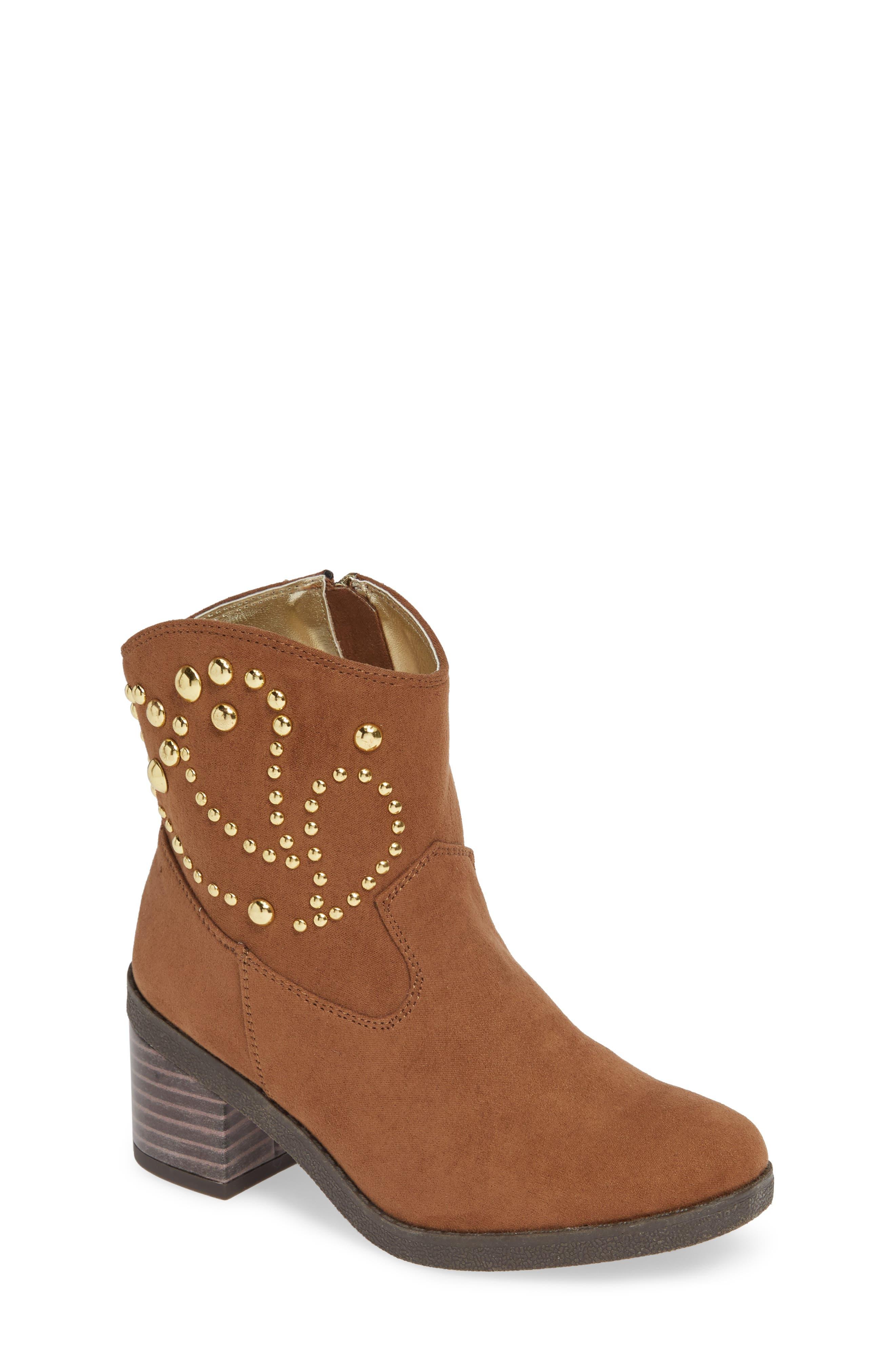 Fawn Desert Studded Boot,                         Main,                         color, CARAMEL