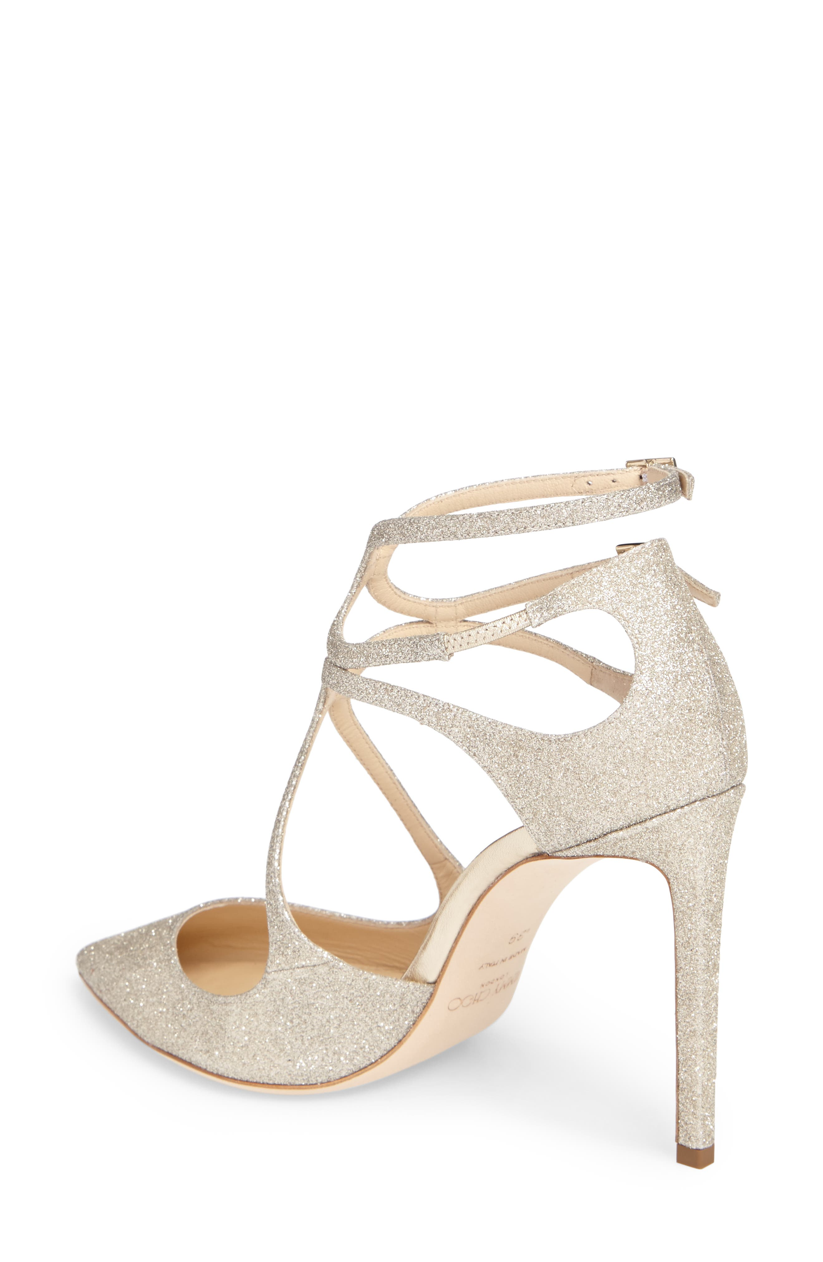 Lancer Strappy Glitter Pump,                             Alternate thumbnail 2, color,                             040