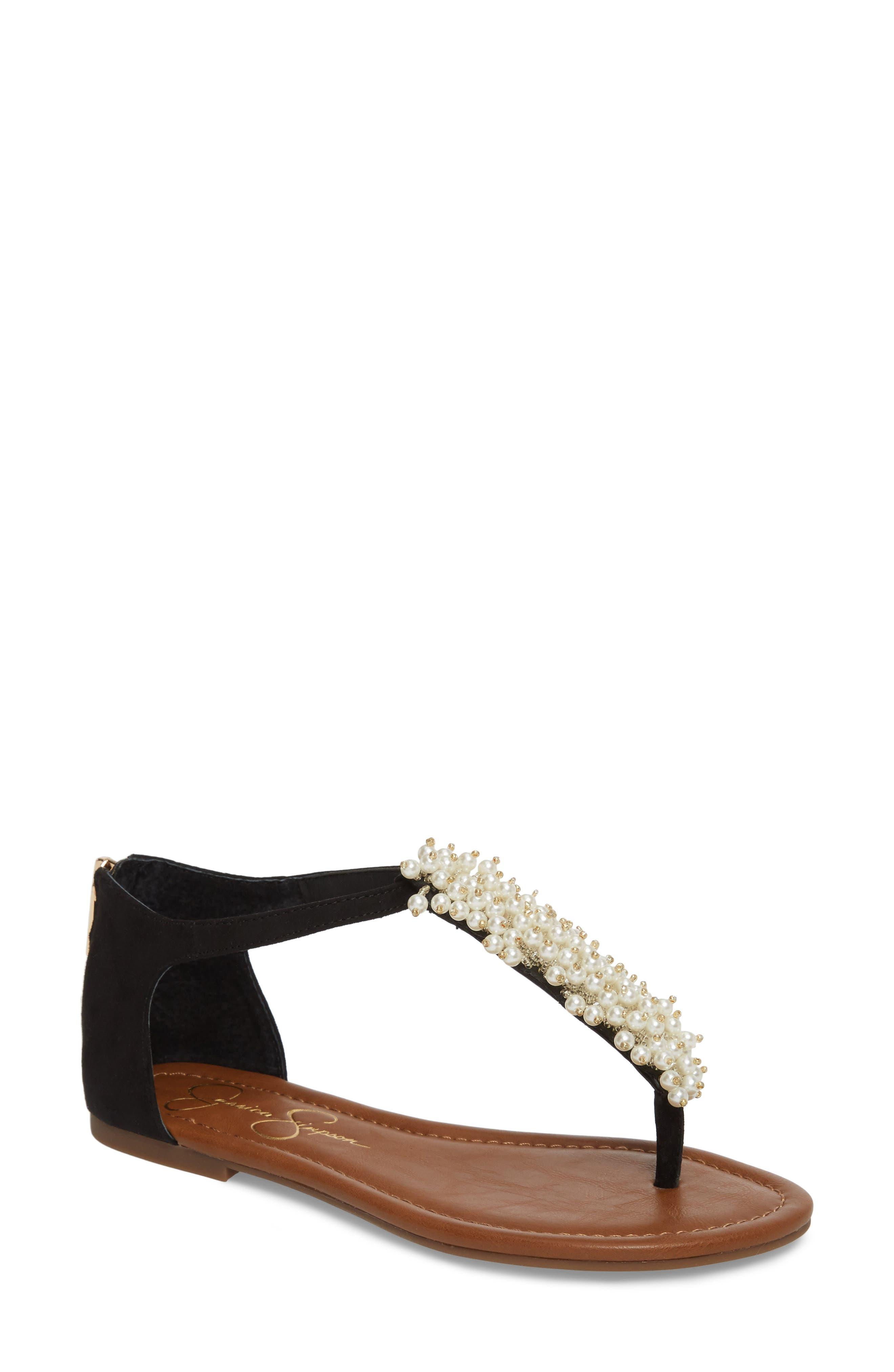Kenton Crystal Embellished Sandal,                             Main thumbnail 1, color,                             001