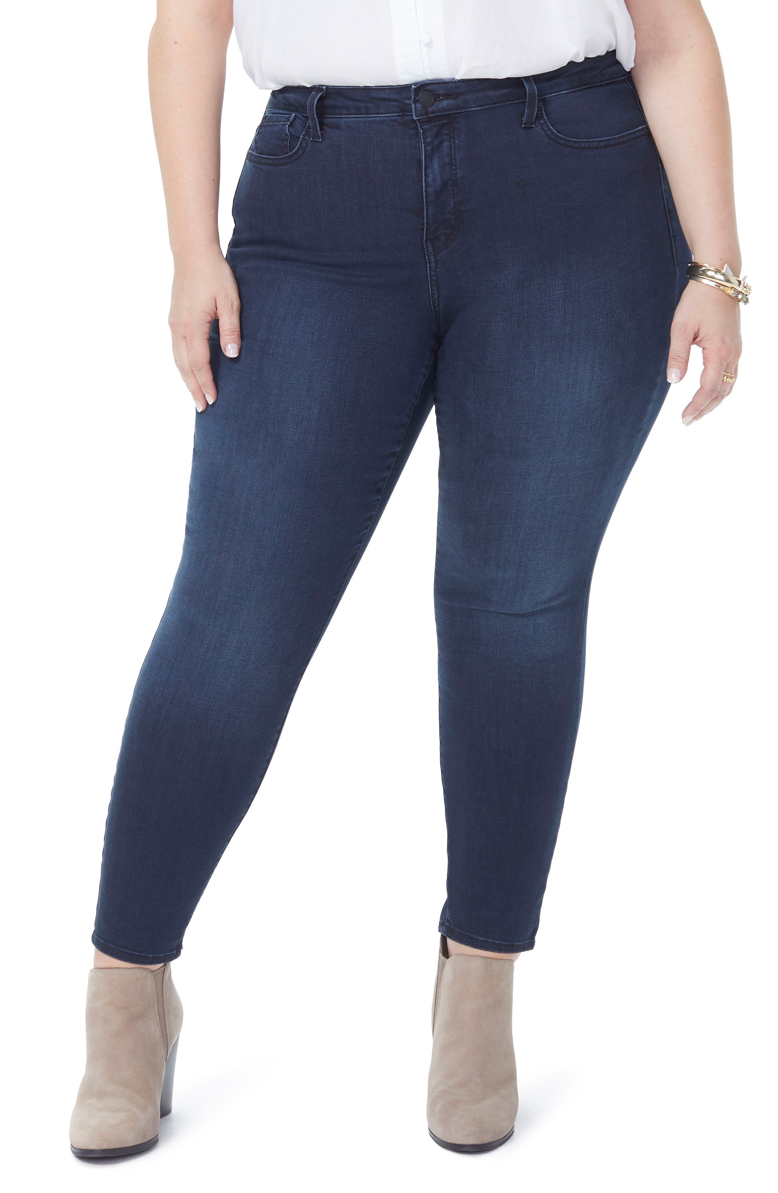 Ami Stretch Ankle Skinny Jeans,                             Main thumbnail 1, color,                             FALLEN