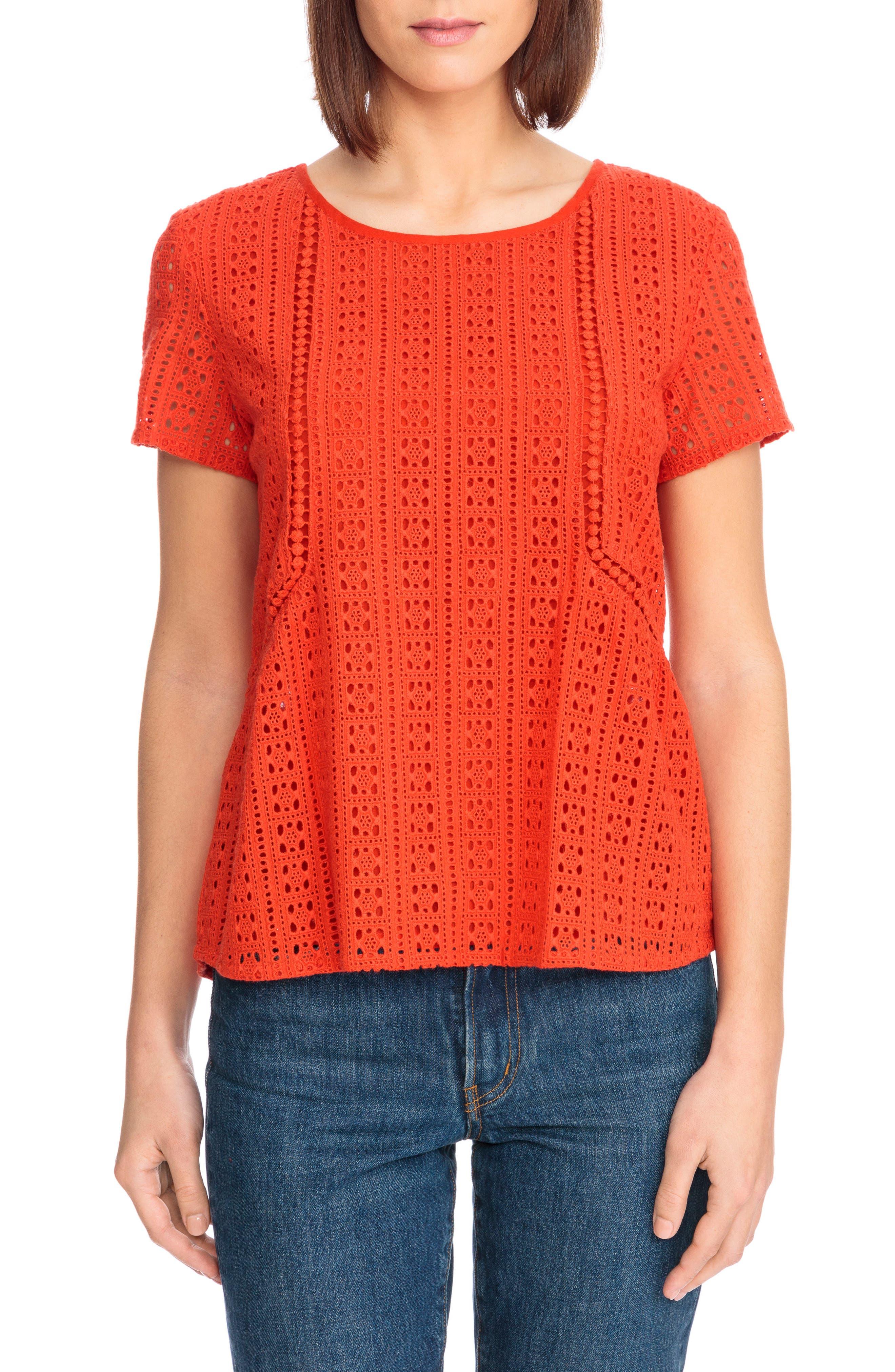 Clo Crochet Blouse,                             Main thumbnail 2, color,