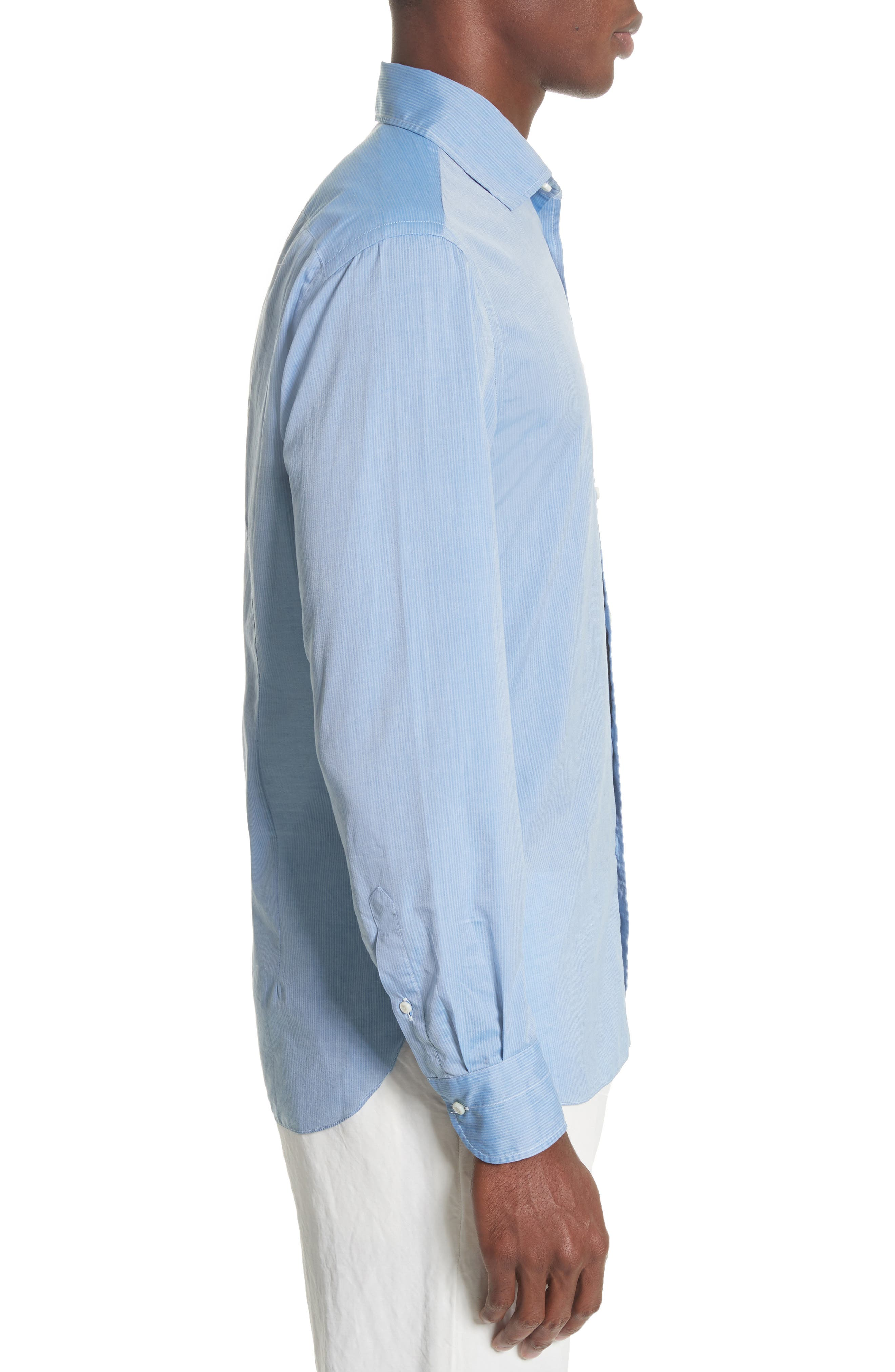 Napoli JB Washed Stripe Sport Shirt,                             Alternate thumbnail 3, color,                             400
