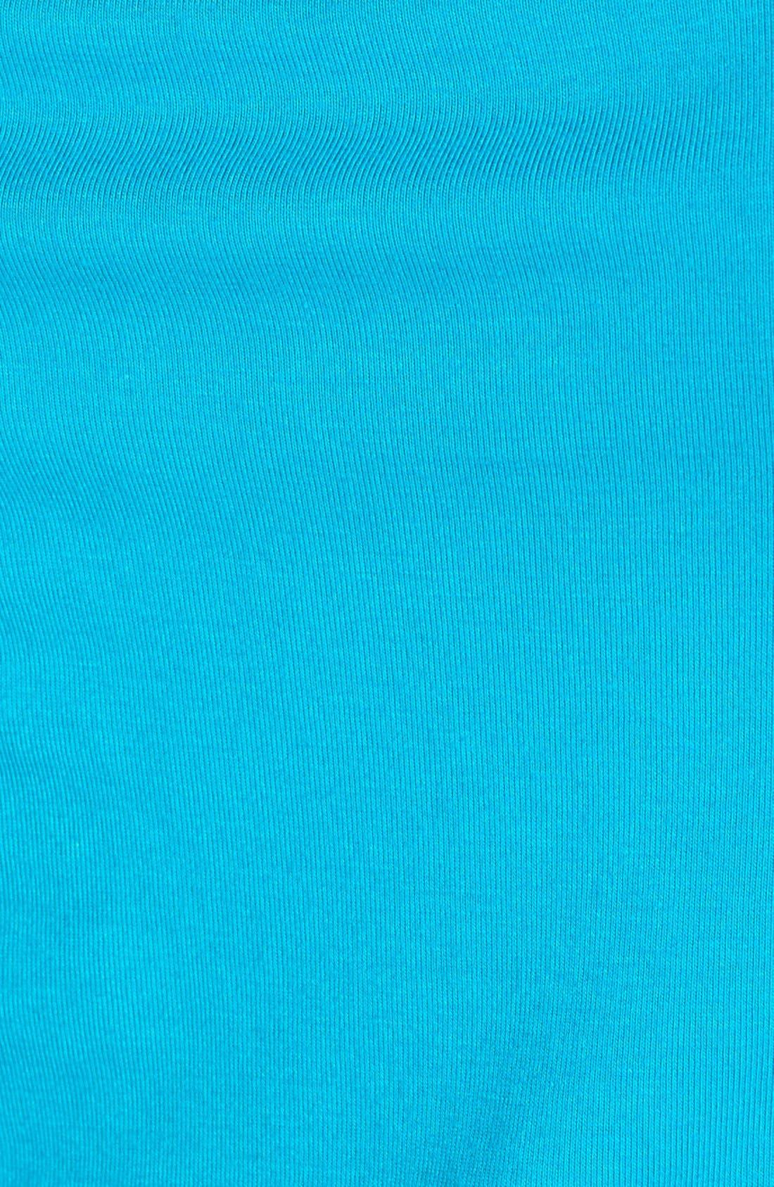 Crochet Trim Maxi Dress,                             Alternate thumbnail 5, color,                             CARIBBEAN