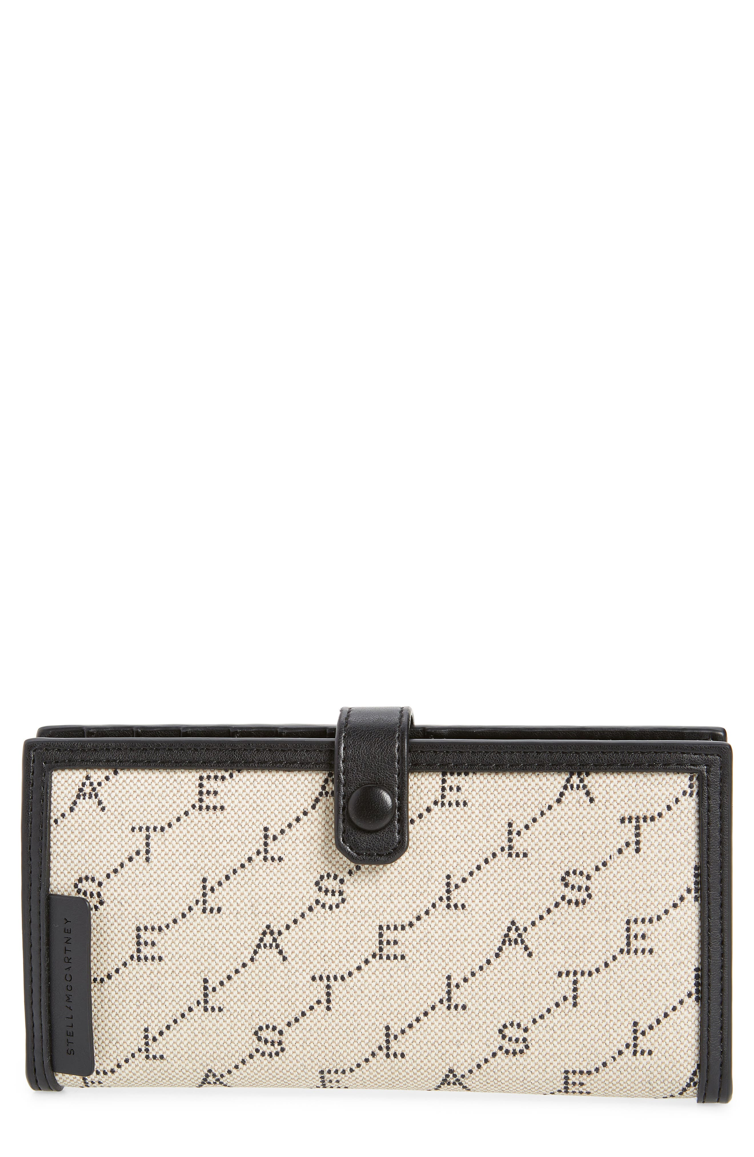 Stitched Logo Continental Wallet, Main, color, SAND