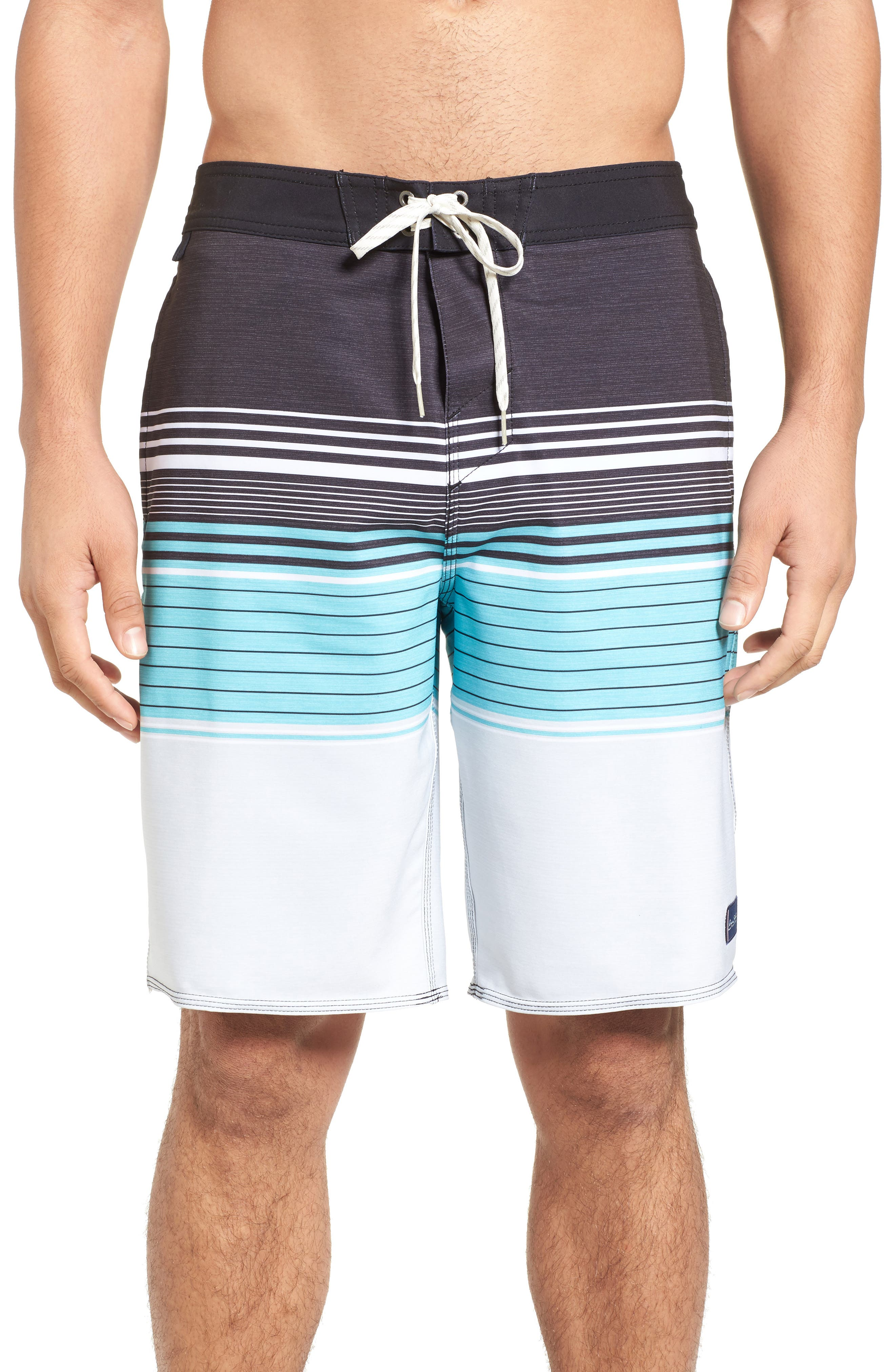 Frontiers Stretch Board Shorts,                             Main thumbnail 1, color,                             001