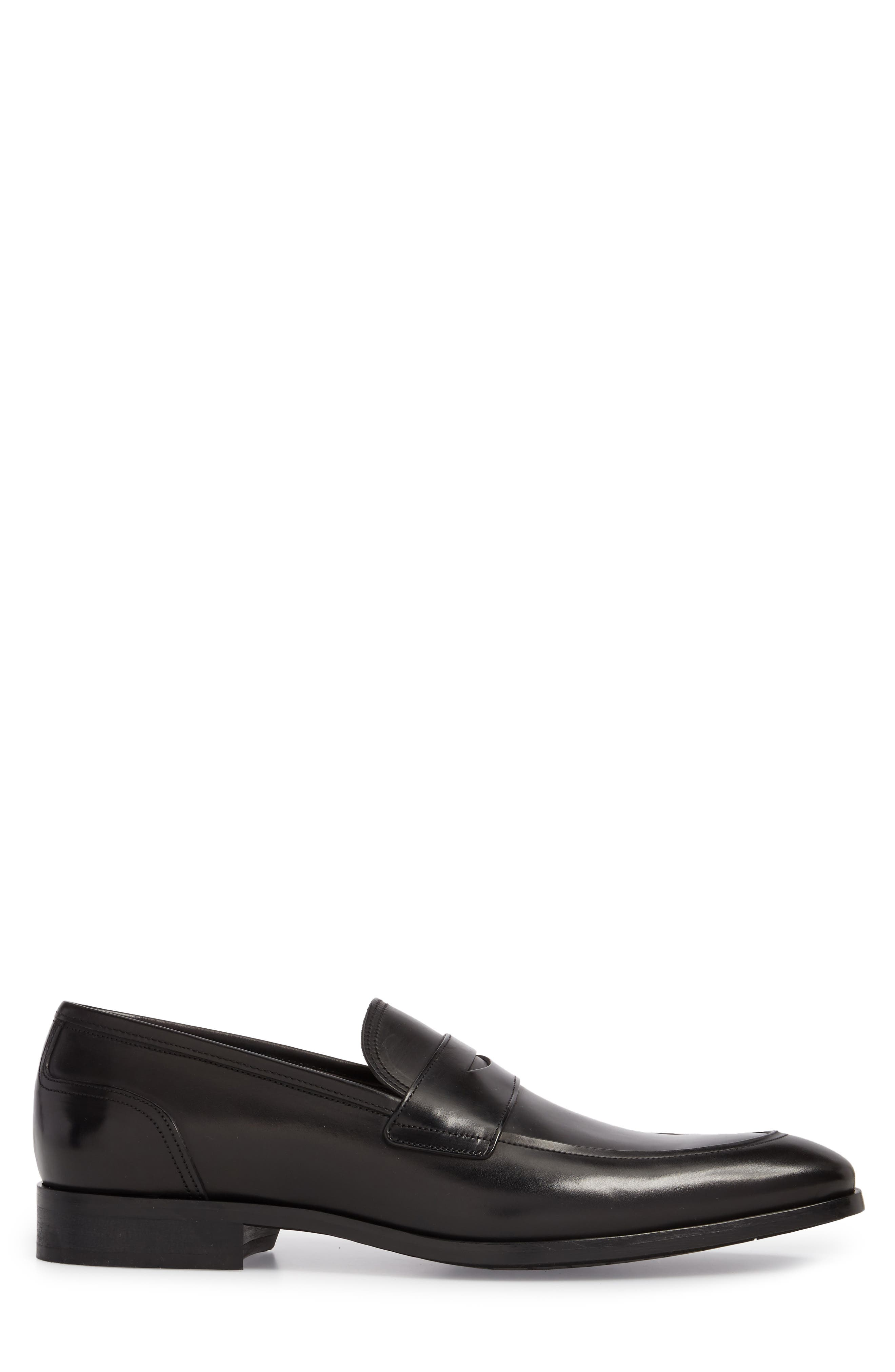 Deane Penny Loafer,                             Alternate thumbnail 3, color,                             BLACK LEATHER