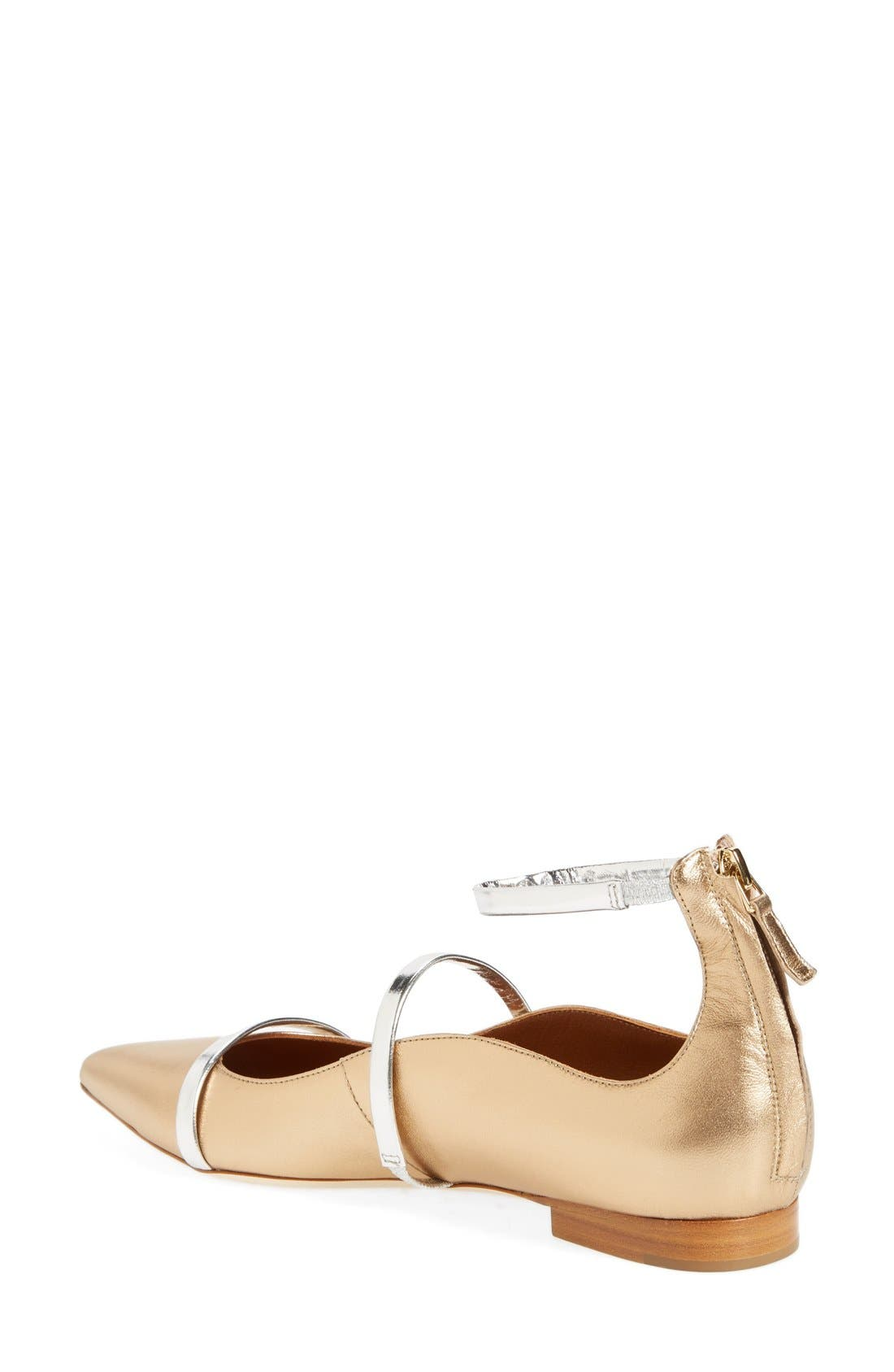 'Robyn' Ankle Strap Flat,                             Alternate thumbnail 2, color,                             710