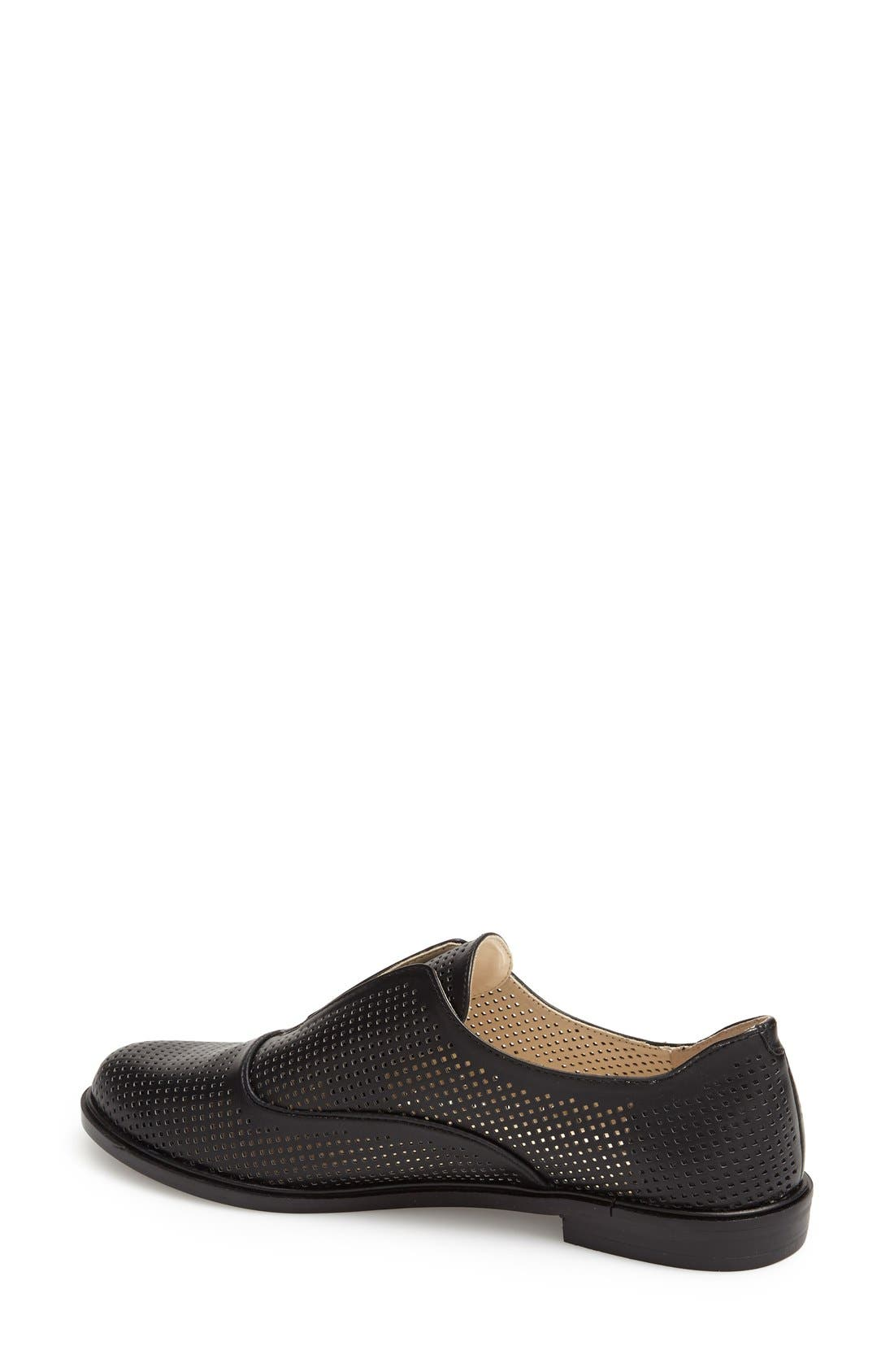 BCBGENERATION,                             'Brisk B' Perforated Oxford,                             Alternate thumbnail 2, color,                             001