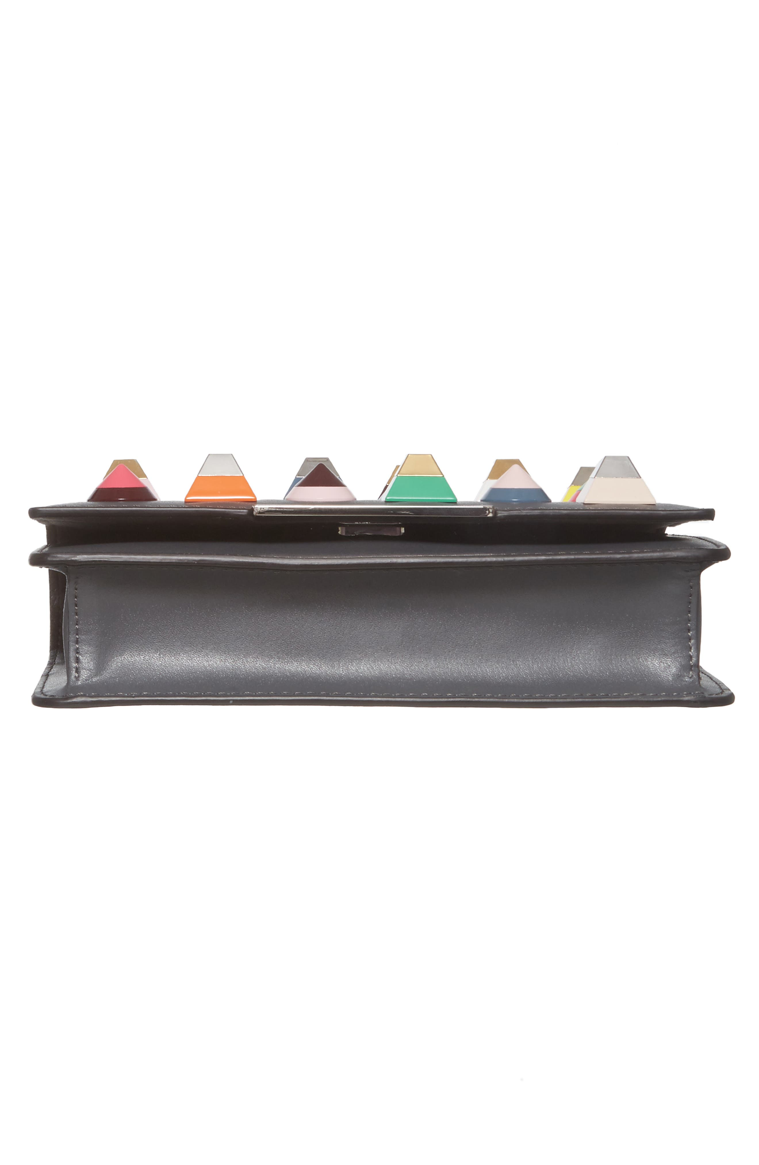 Rainbow Studded Leather Tube Wallet on a Chain,                             Alternate thumbnail 6, color,                             086