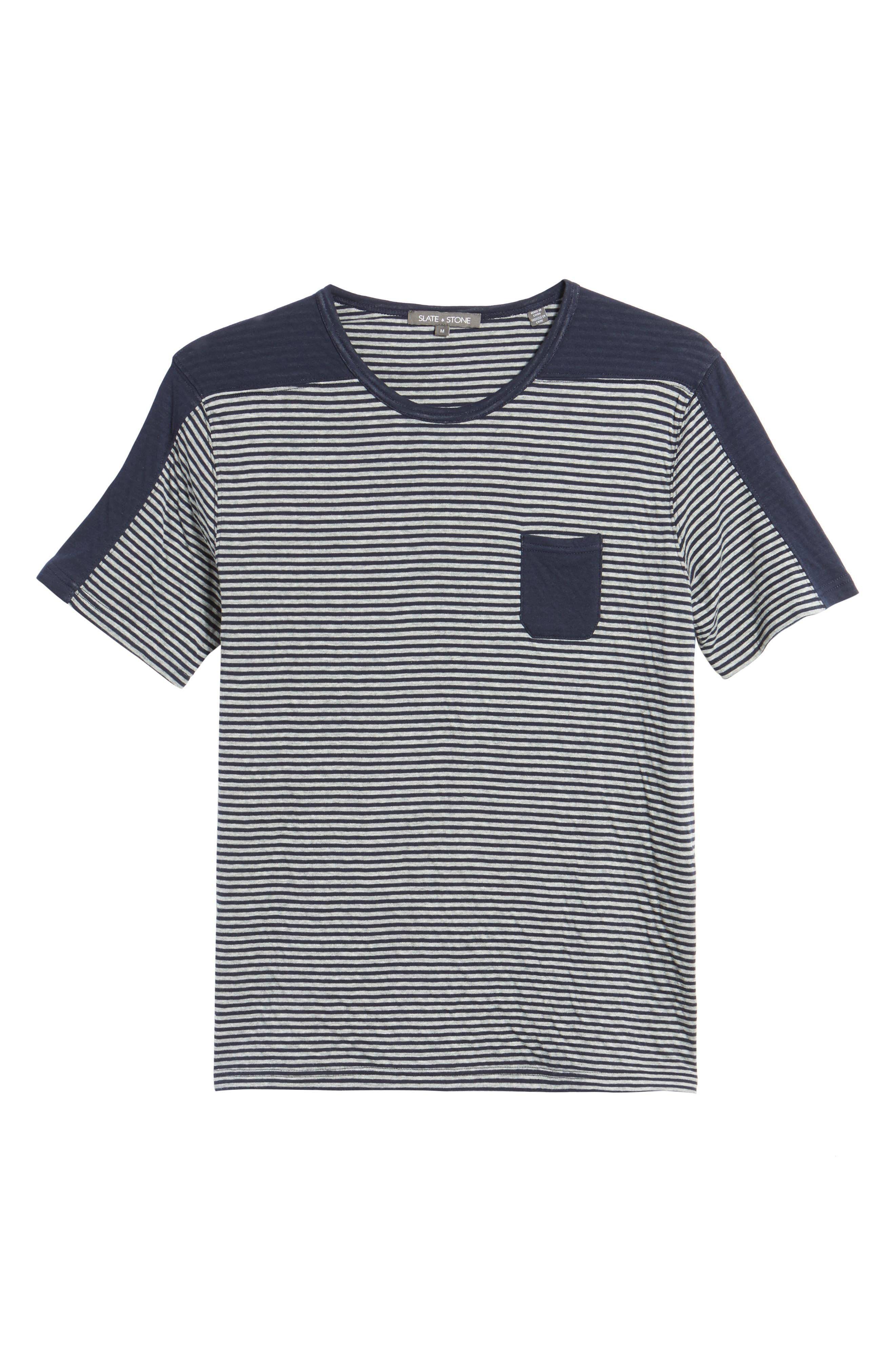 Striped Pocket T-Shirt,                             Alternate thumbnail 6, color,                             410