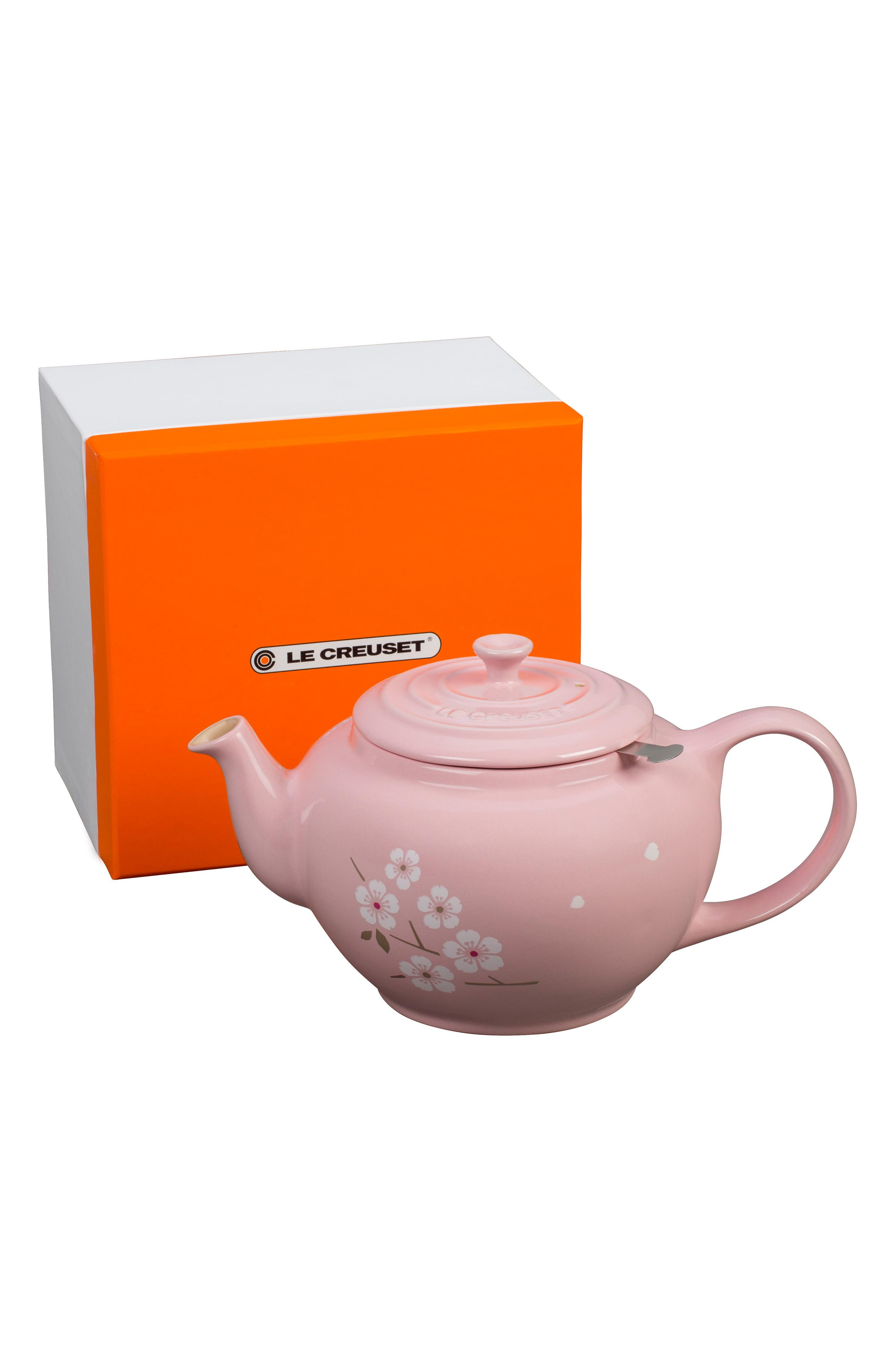 Sakura 1-Quart Stoneware Teapot,                             Alternate thumbnail 2, color,                             650