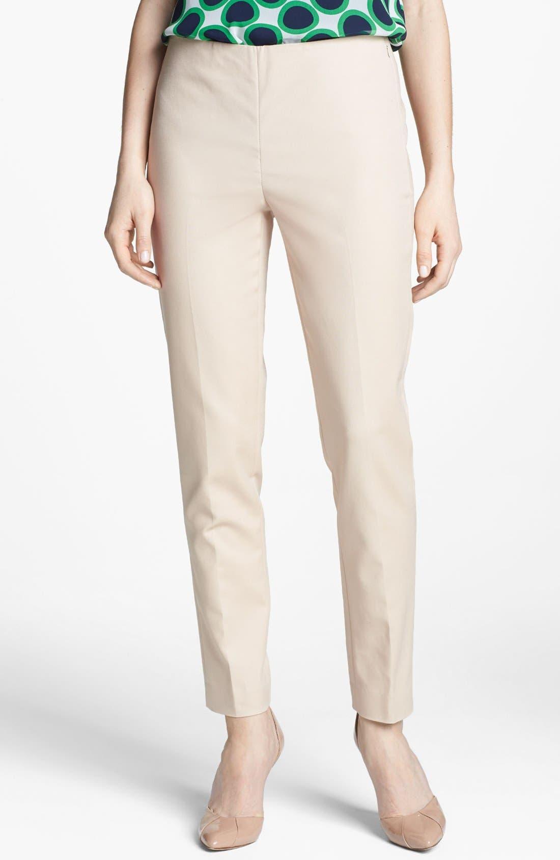 Side Zip Double Weave Pants,                             Main thumbnail 18, color,