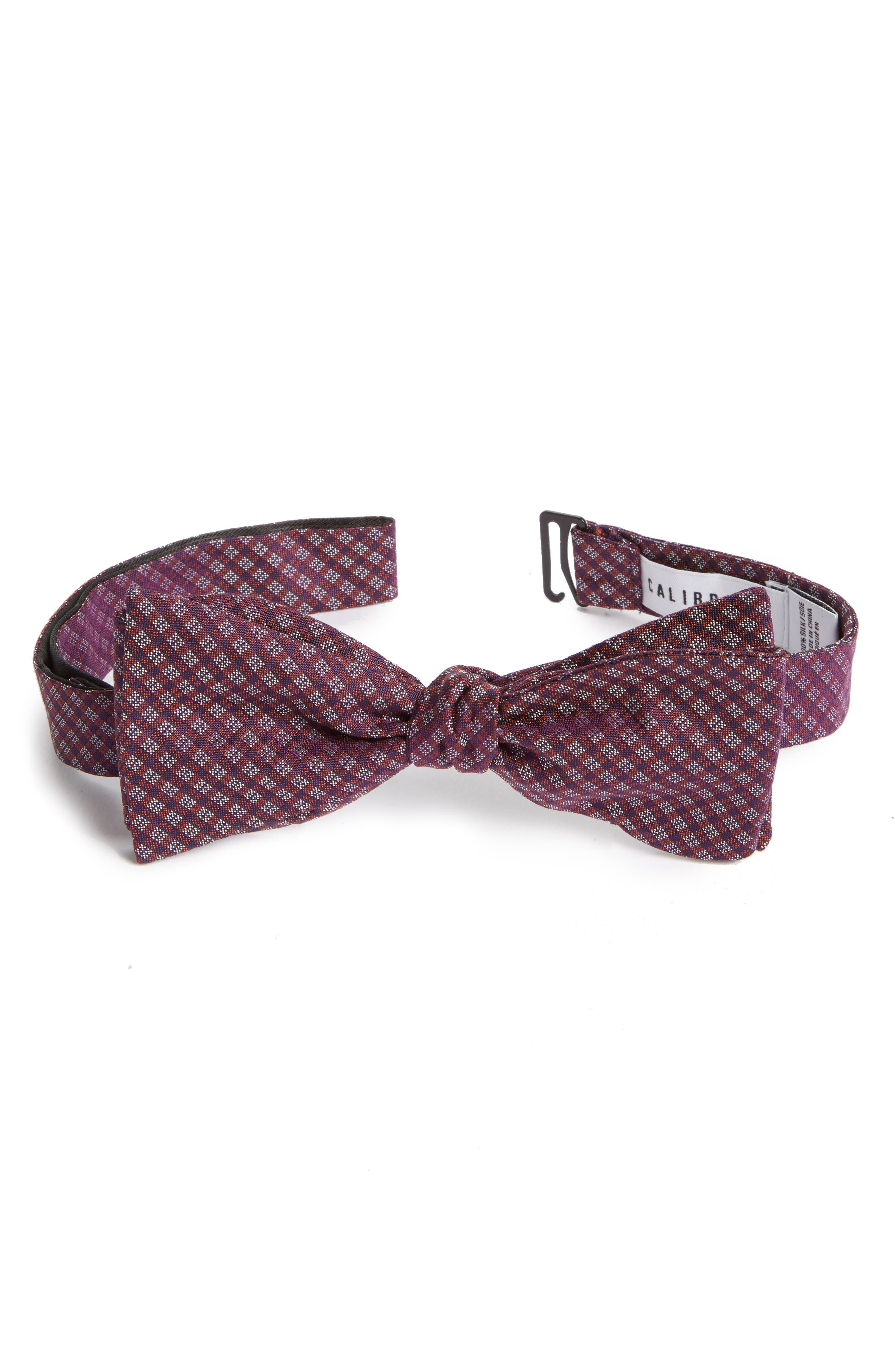 Check Silk Bow Tie,                             Alternate thumbnail 2, color,                             225