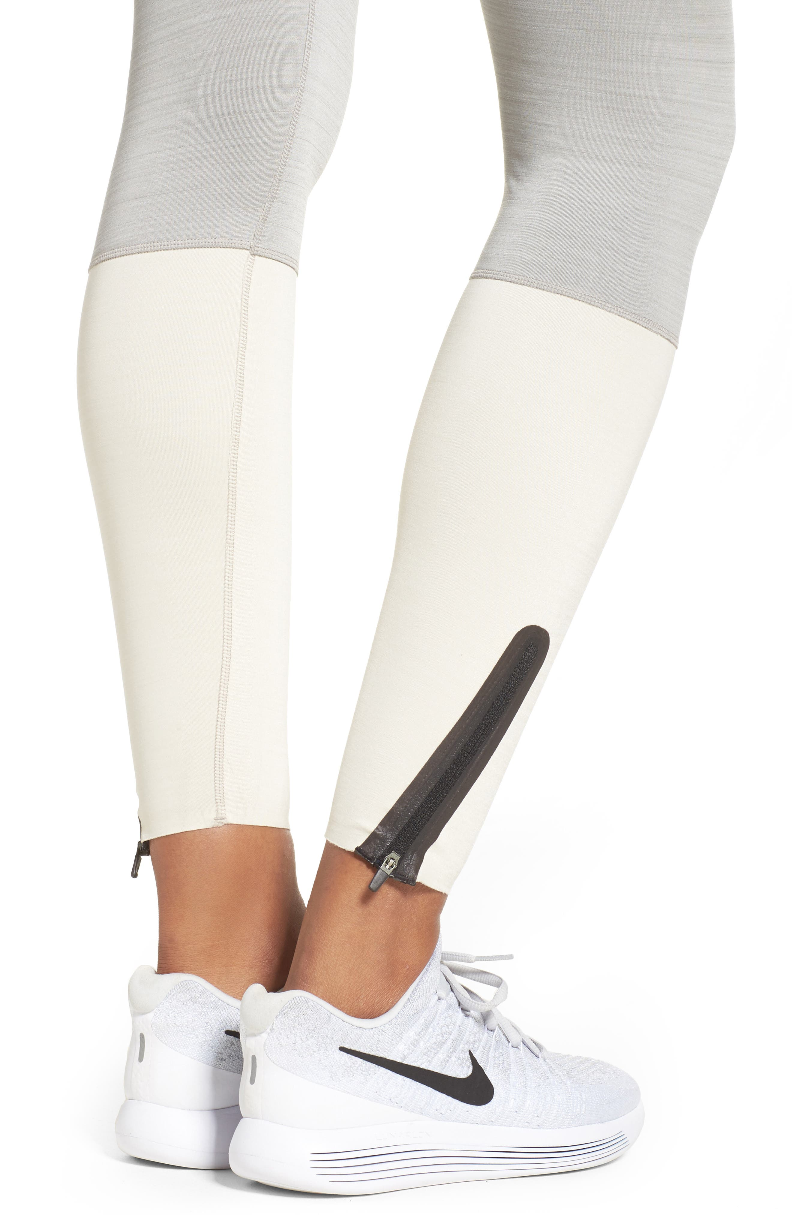 Legendary Mid Rise Zip Cuff Training Tights,                             Alternate thumbnail 12, color,