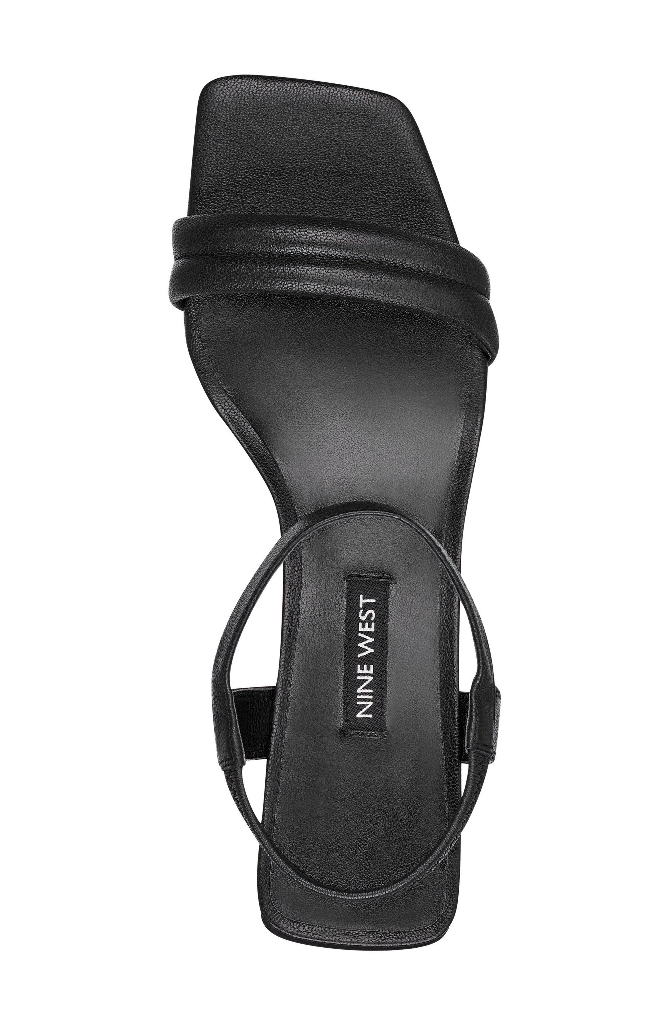 Urgreat Ankle Strap Sandal,                             Alternate thumbnail 5, color,                             BLACK LEATHER