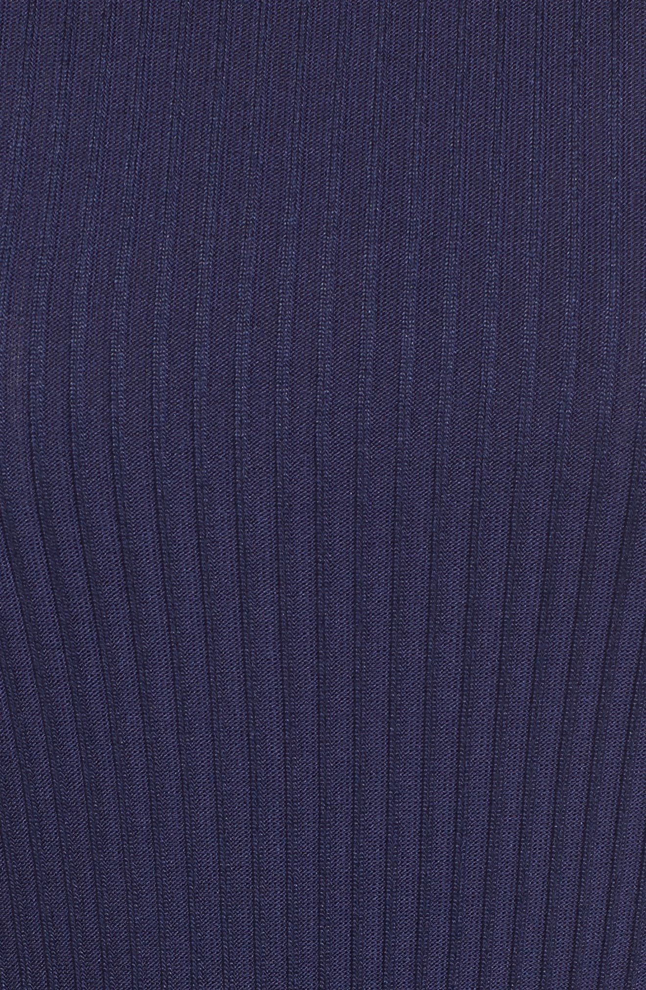 Ribbed Circle Trim Body-Con Dress,                             Alternate thumbnail 5, color,                             456
