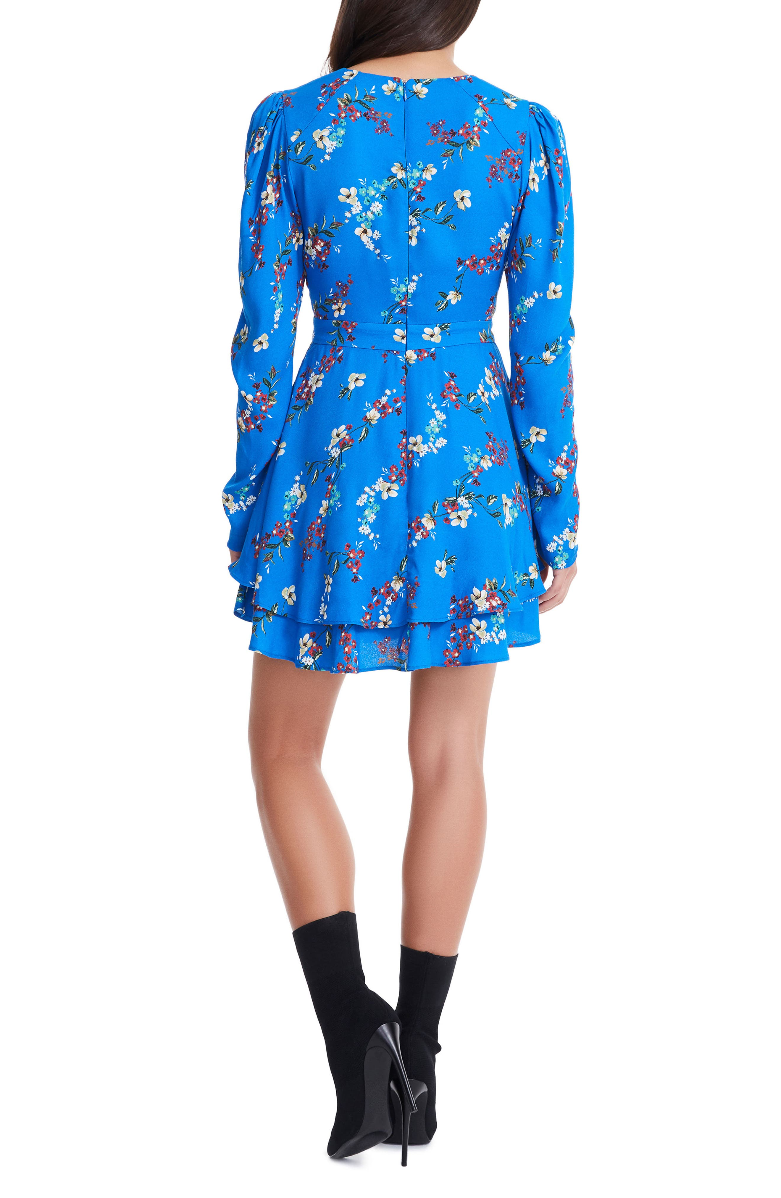 Avery Strappy Babydoll Dress,                             Alternate thumbnail 5, color,