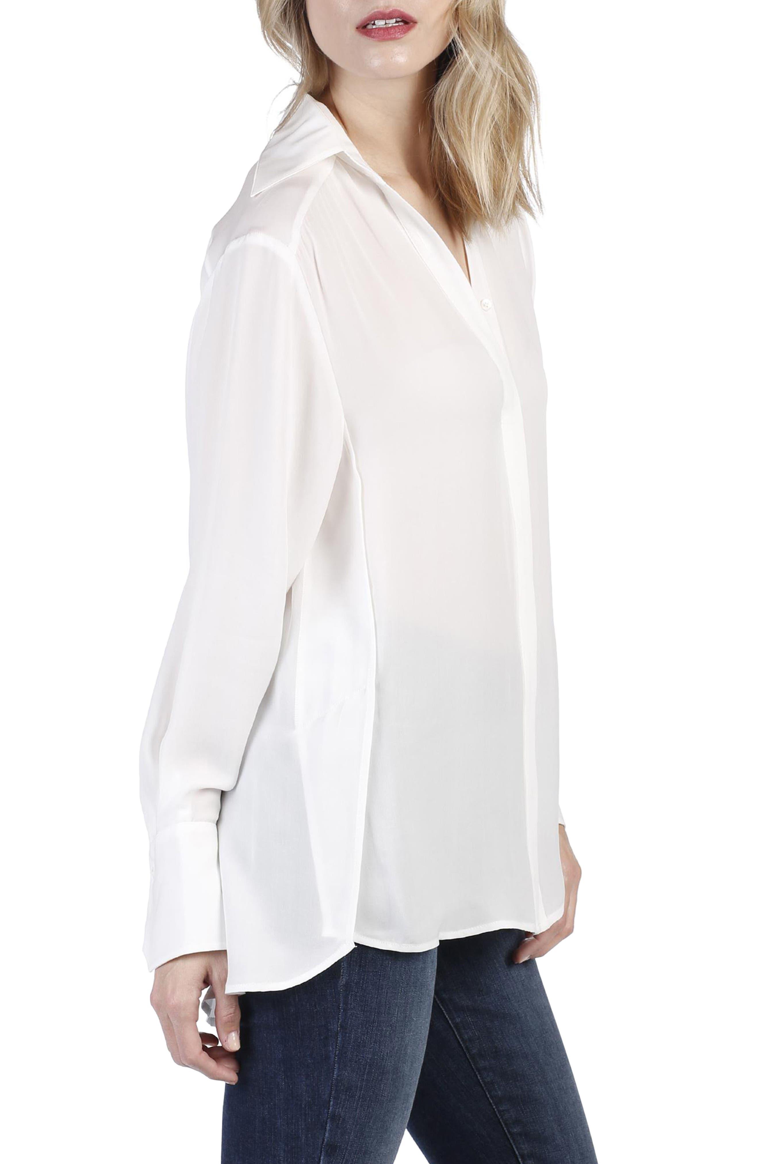 Clemence Silk Shirt,                             Alternate thumbnail 6, color,