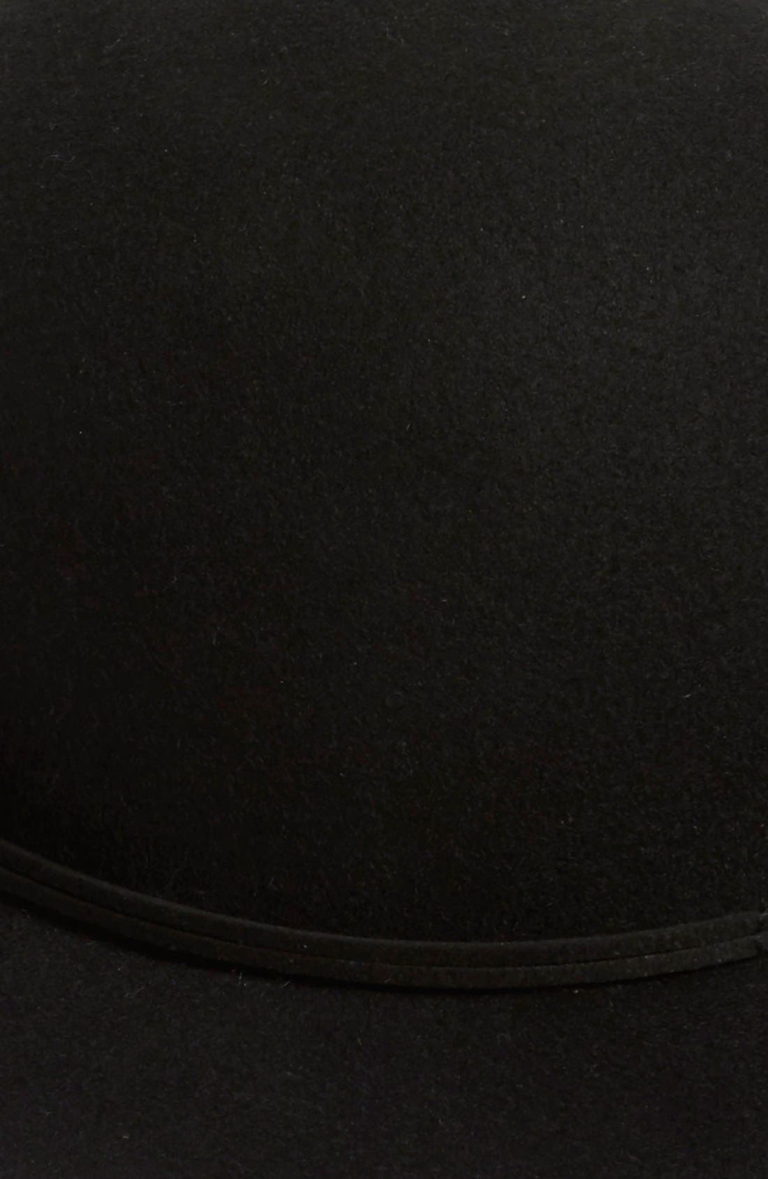 Wool Round Crown Hat,                             Alternate thumbnail 2, color,                             001