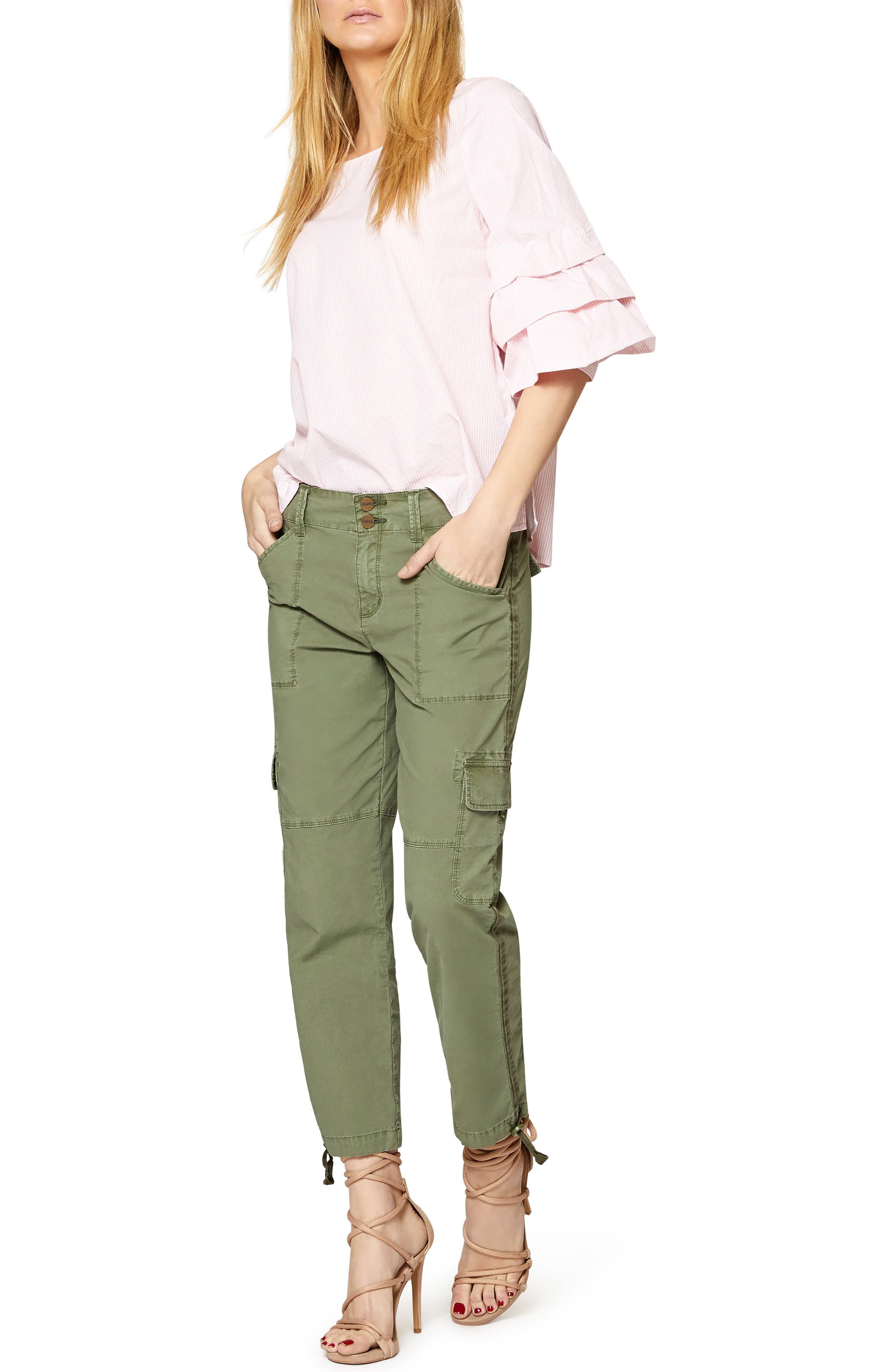 Delphine Tiered Sleeve Top,                             Alternate thumbnail 6, color,