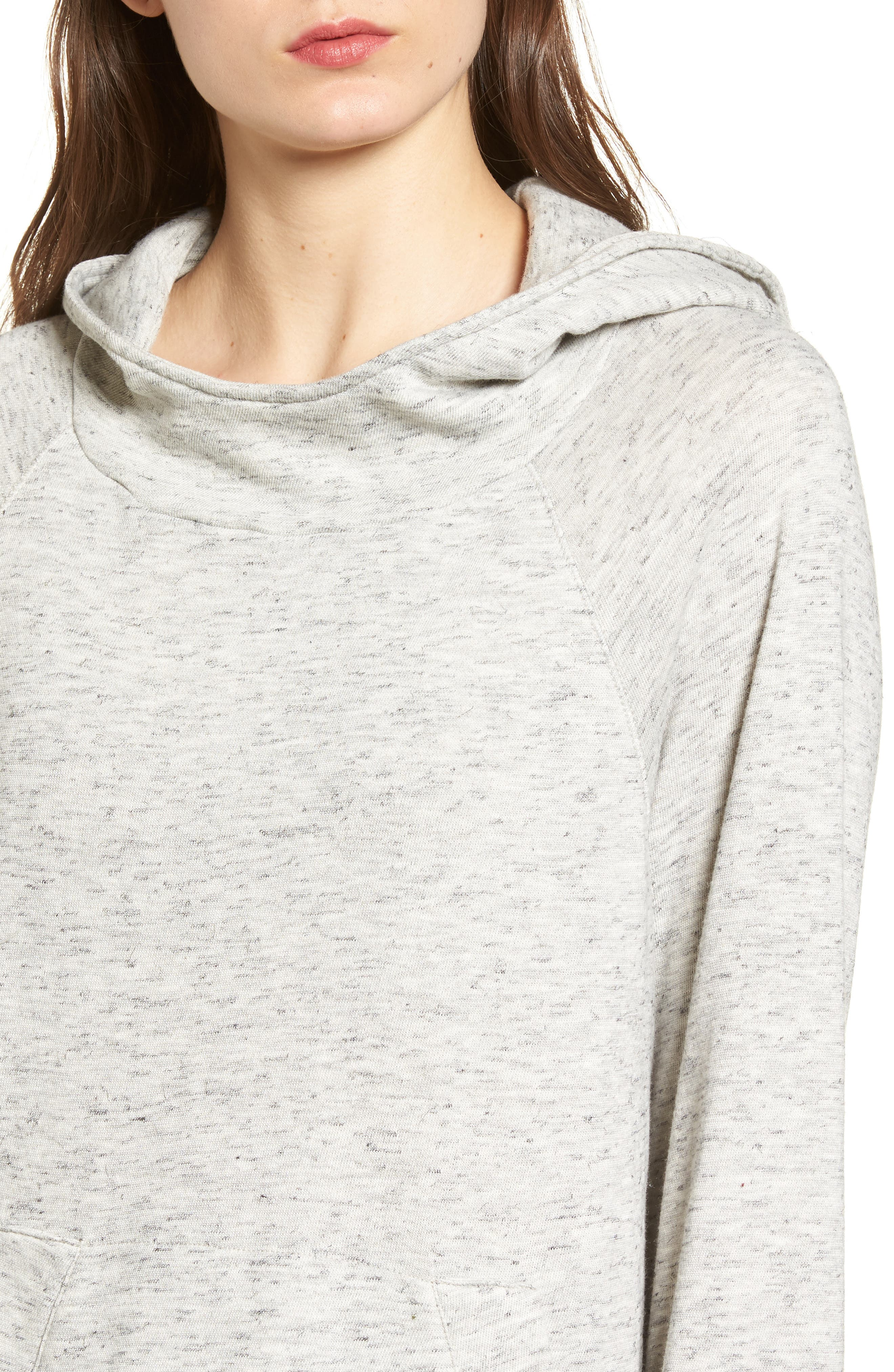 Sidelight Cowl Neck Hoodie,                             Alternate thumbnail 4, color,                             020
