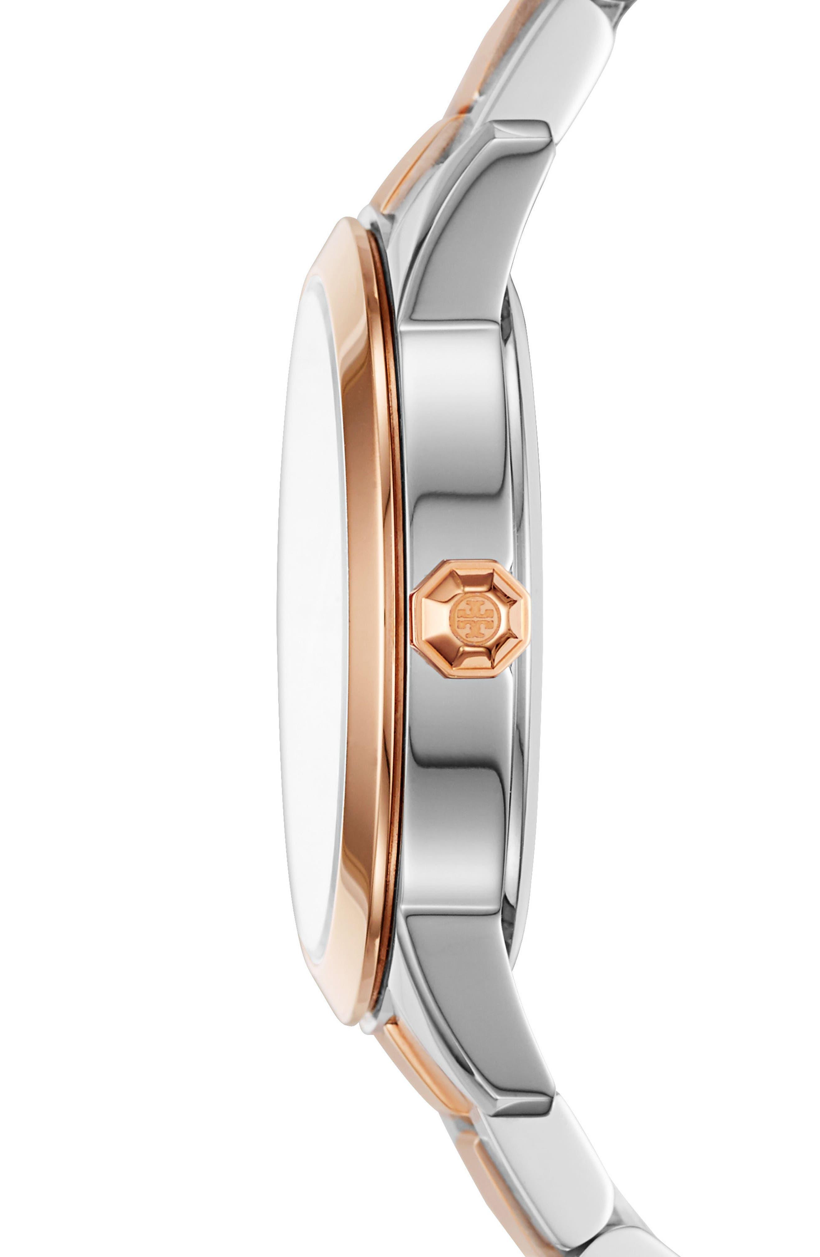 Collins Two-Tone Bracelet Watch, 32mm,                             Alternate thumbnail 2, color,                             710