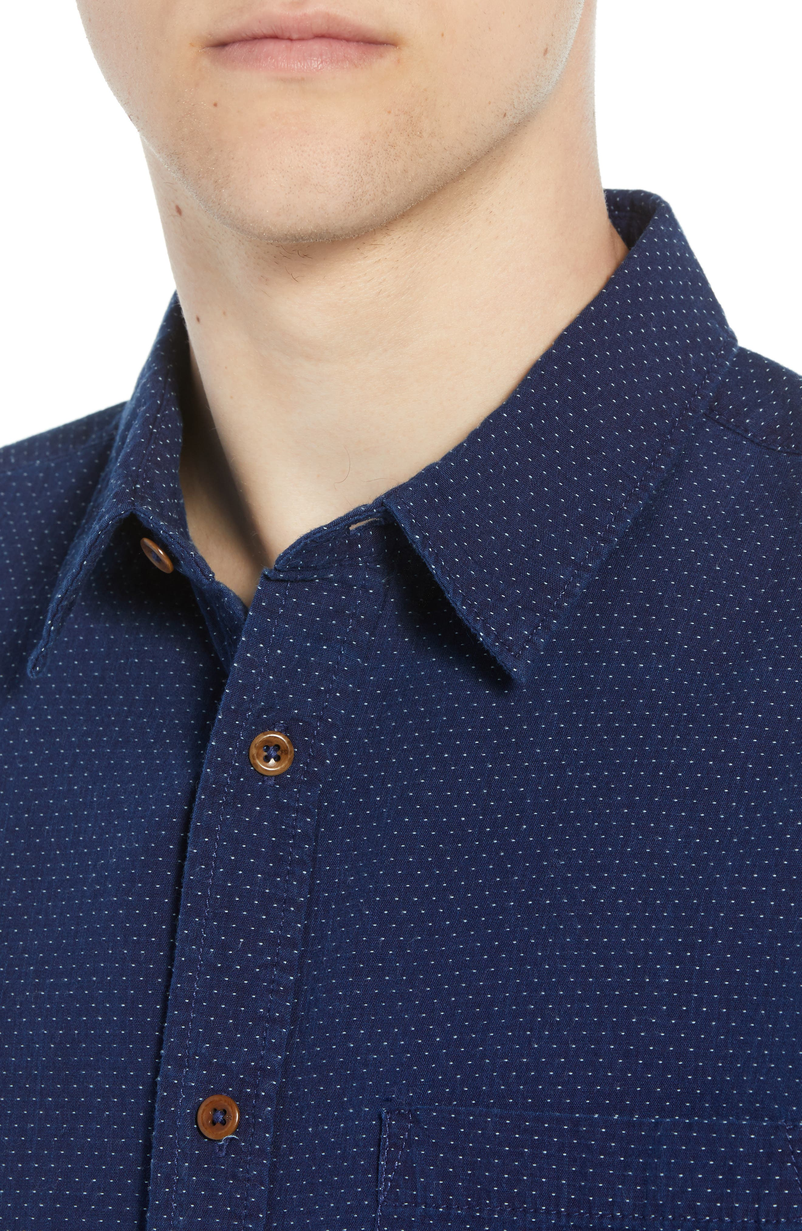 Indigo Dot Regular Fit Sport Shirt,                             Alternate thumbnail 2, color,                             VINTAGE