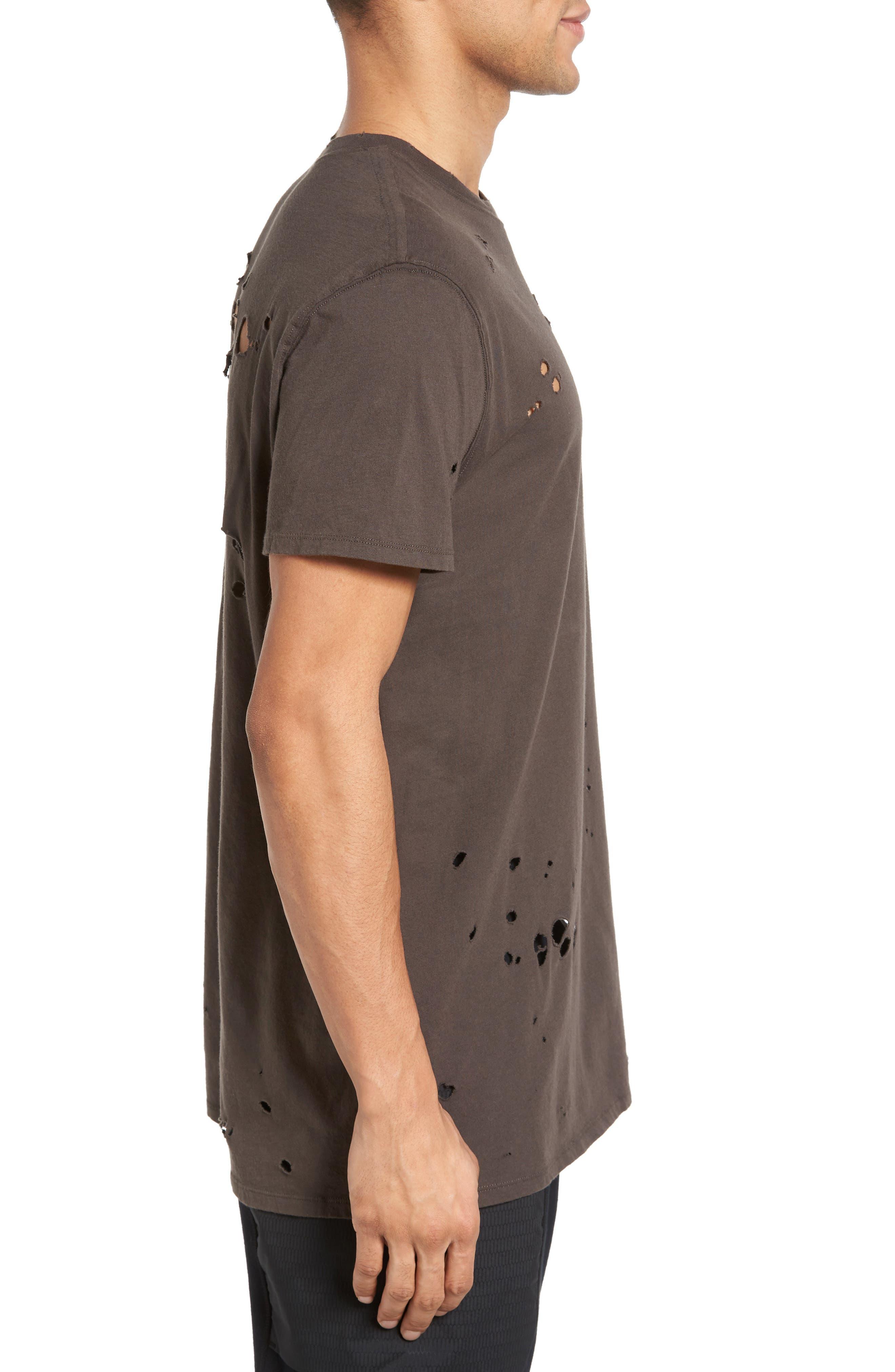 Torn Crewneck T-Shirt,                             Alternate thumbnail 11, color,