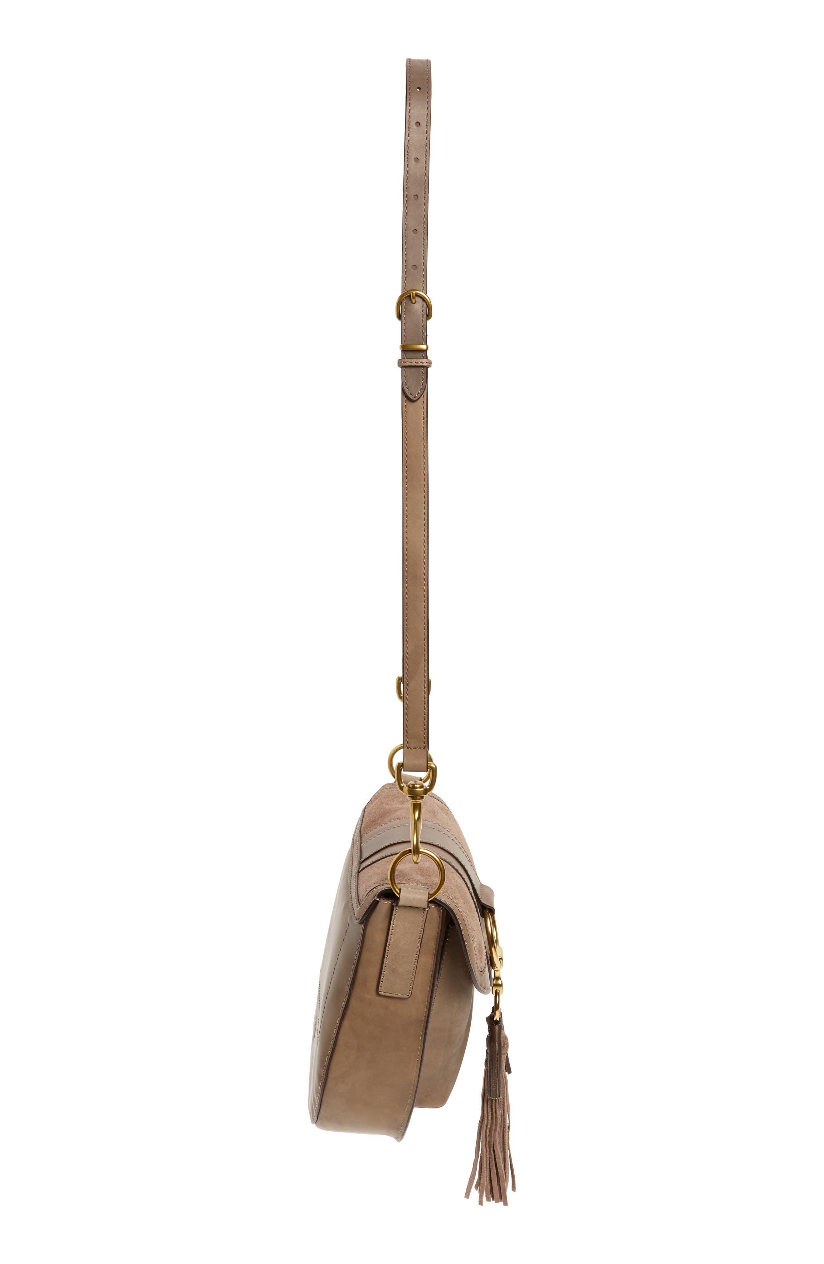 Small Ilana Harness Leather Saddle Bag,                             Alternate thumbnail 5, color,                             040