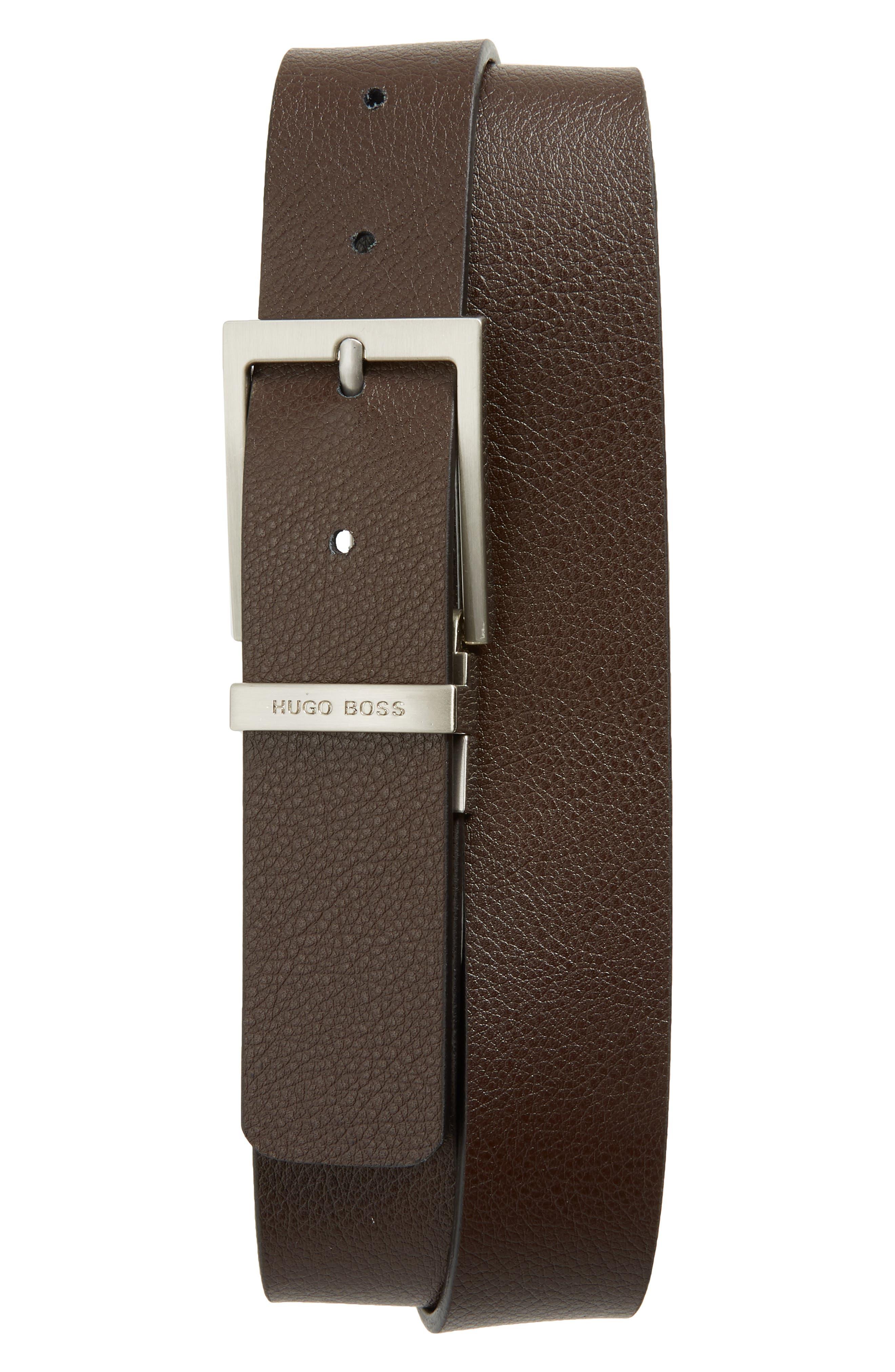 Reming Reversible Leather Belt,                             Alternate thumbnail 2, color,                             BLACK/ BROWN
