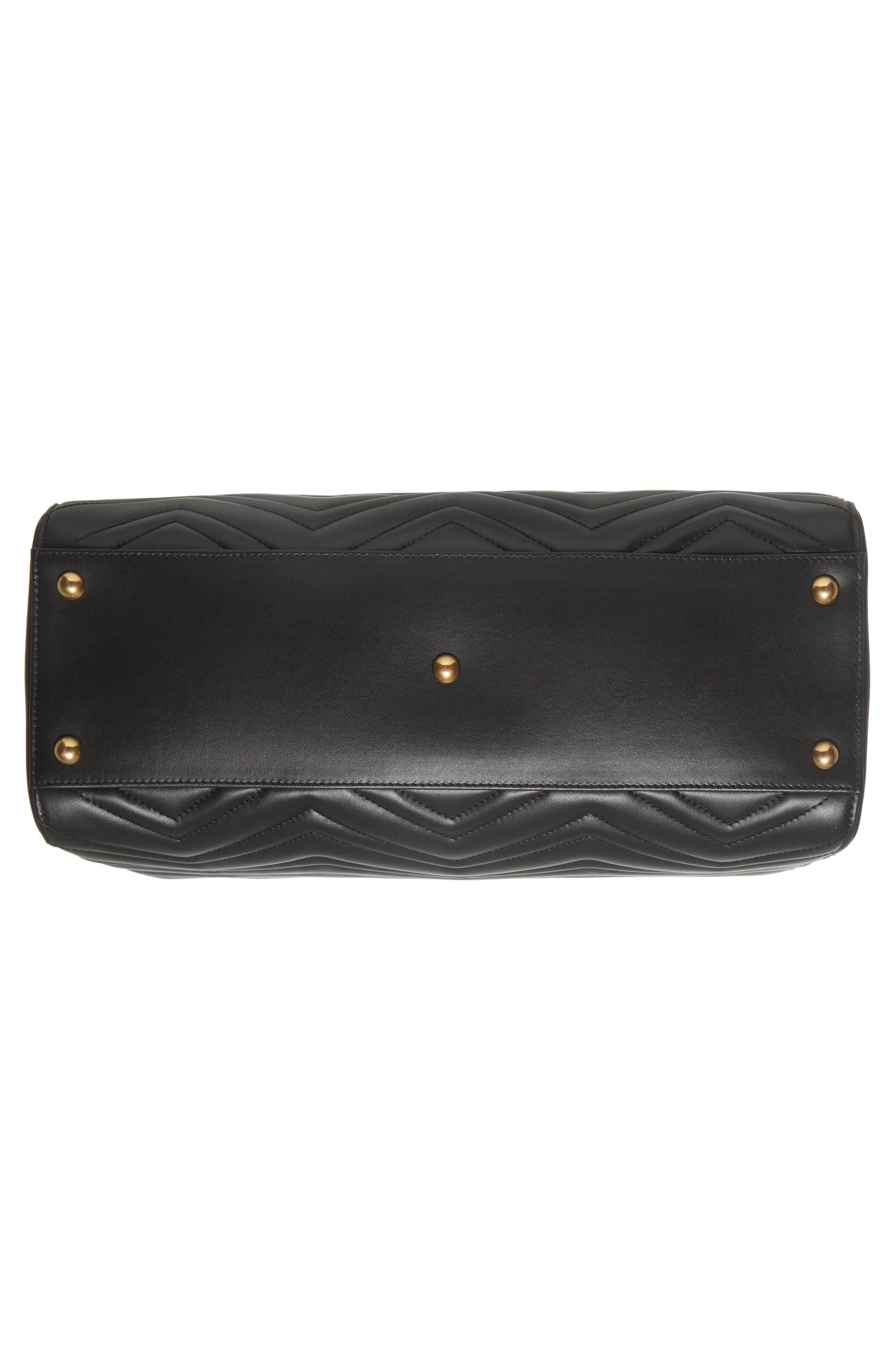 GG Marmont Medium Matelassé Leather Top Handle Shoulder Bag,                             Alternate thumbnail 6, color,                             005