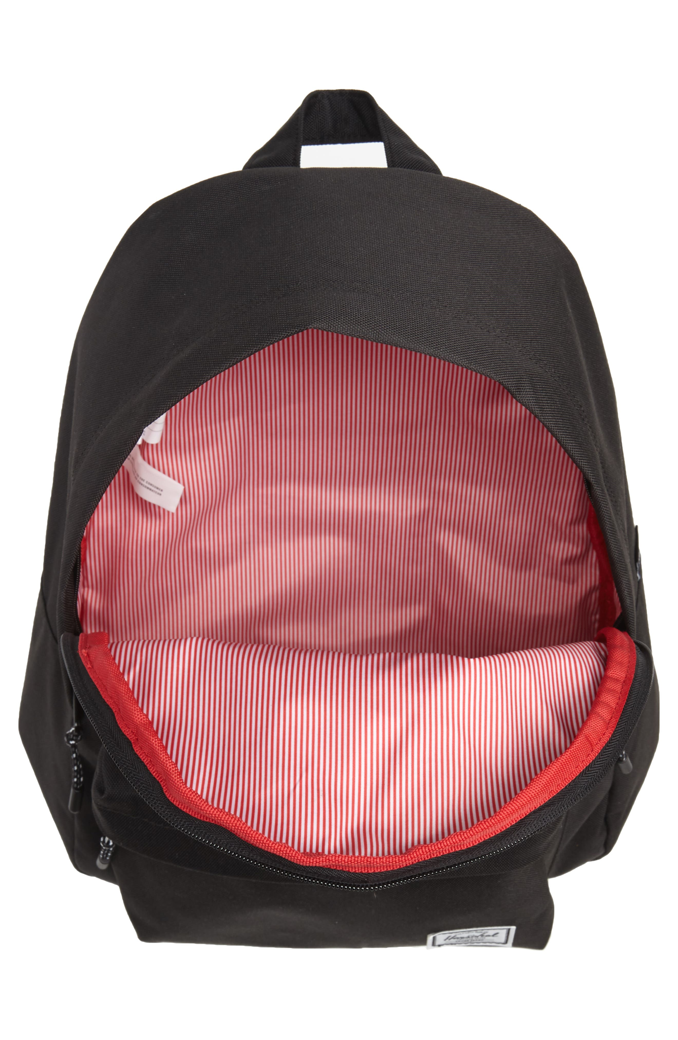 Classic Mid Volume Backpack,                             Alternate thumbnail 4, color,                             BLACK
