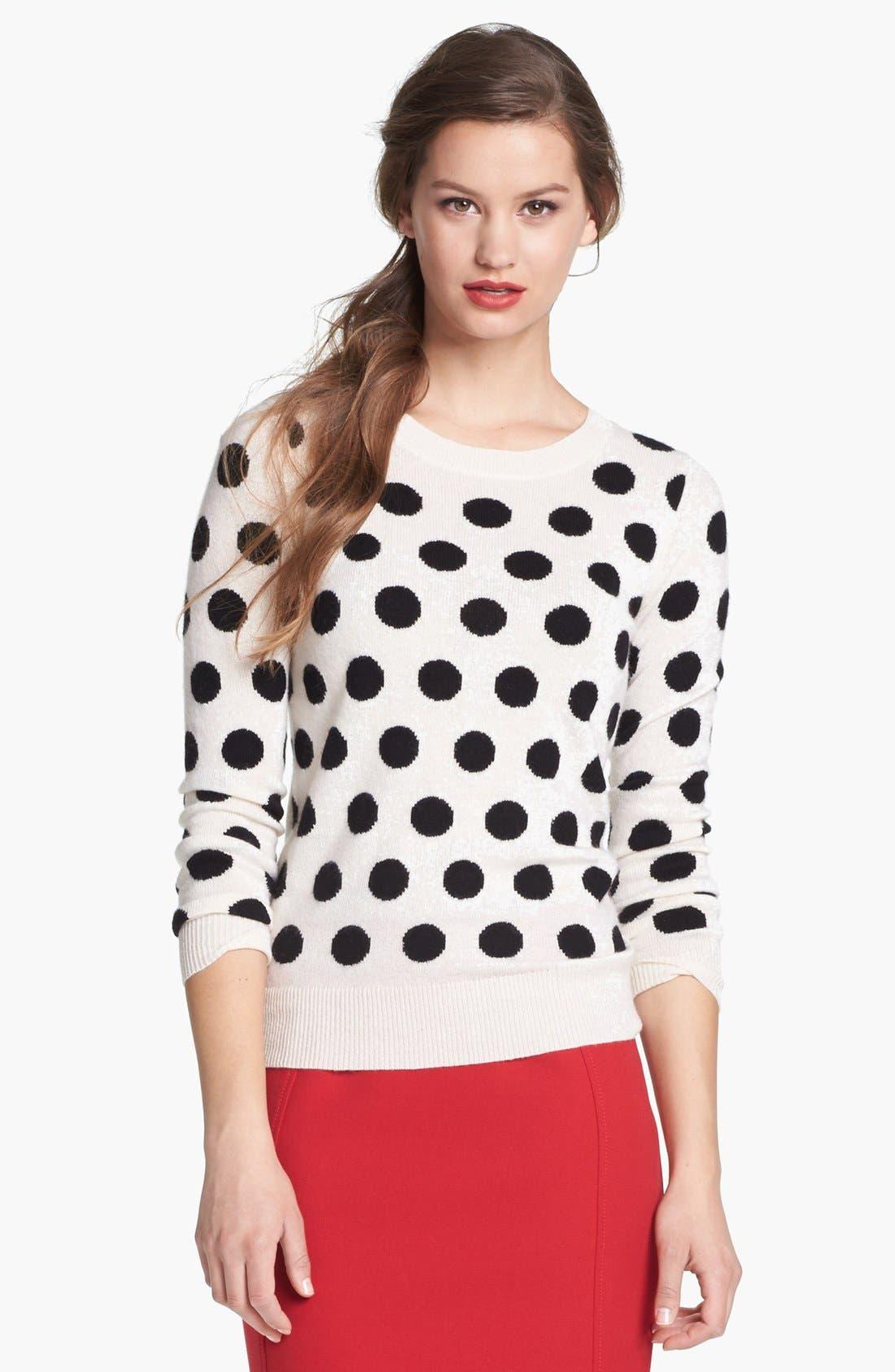 Cashmere Blend Crewneck Sweater,                             Alternate thumbnail 2, color,                             002