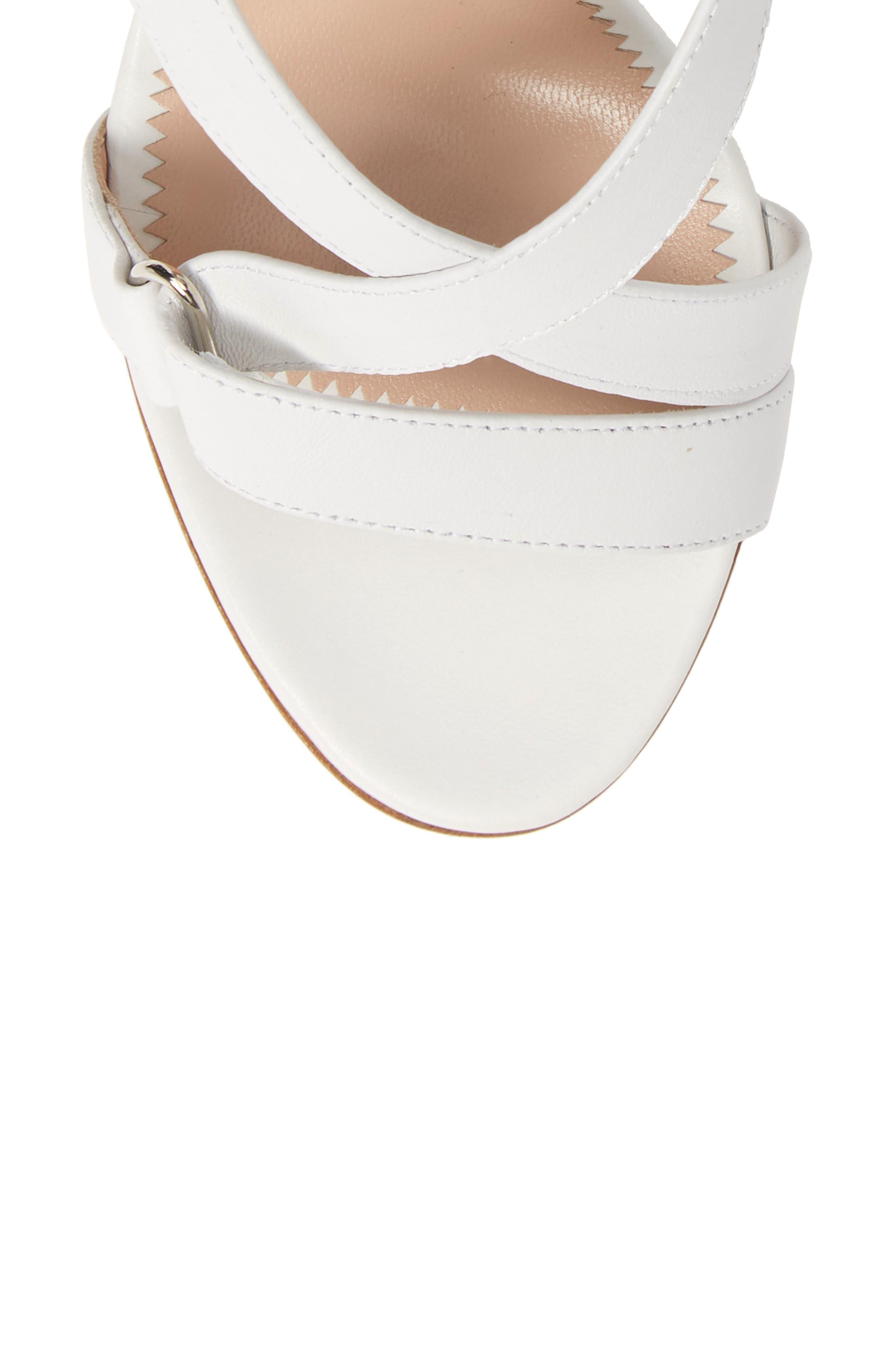 GIUSEPPE ZANOTTI,                             Wrap Sandal,                             Alternate thumbnail 5, color,                             WHITE
