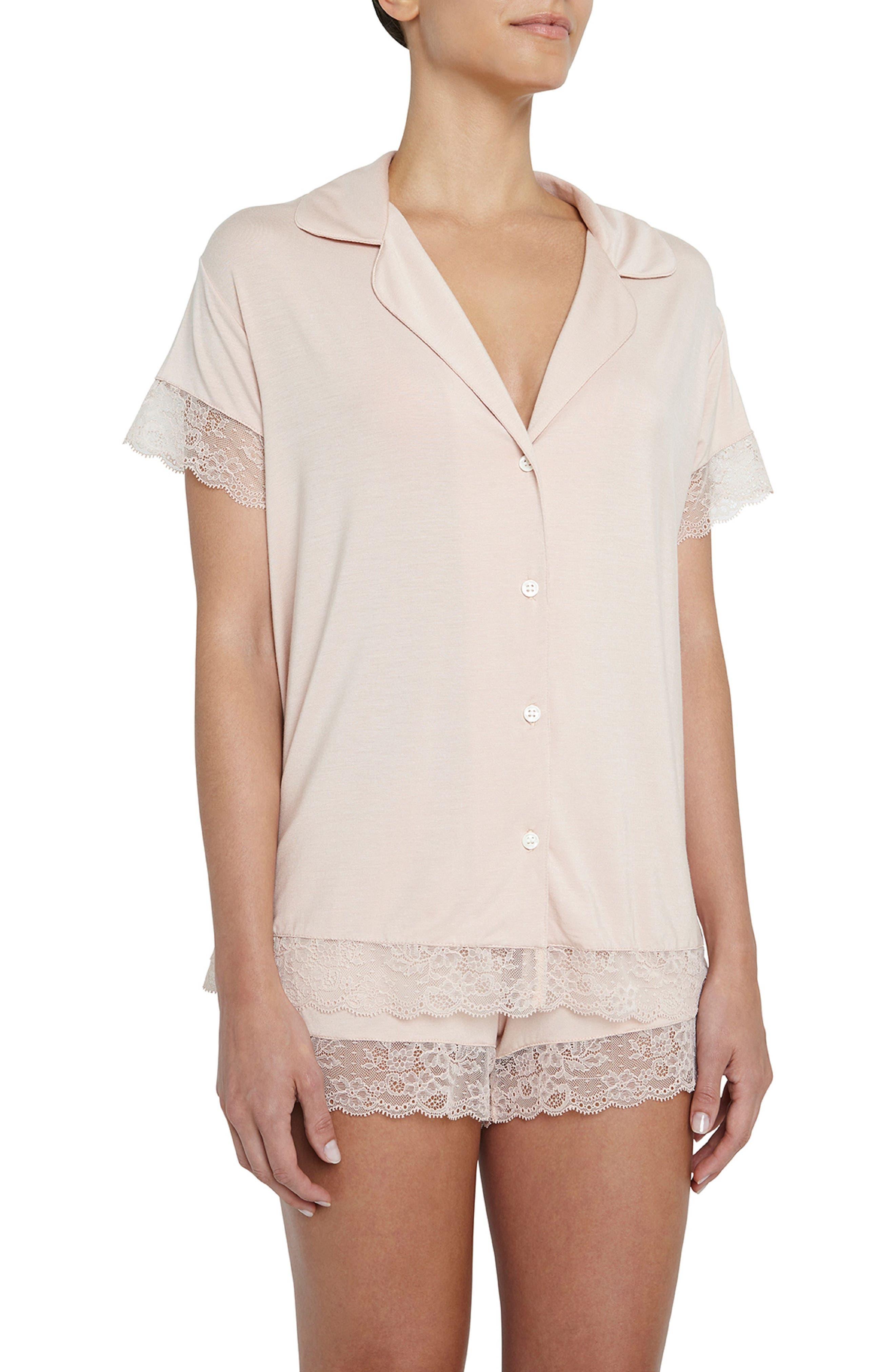 Malou the Lace Short Pajamas,                             Main thumbnail 1, color,                             652