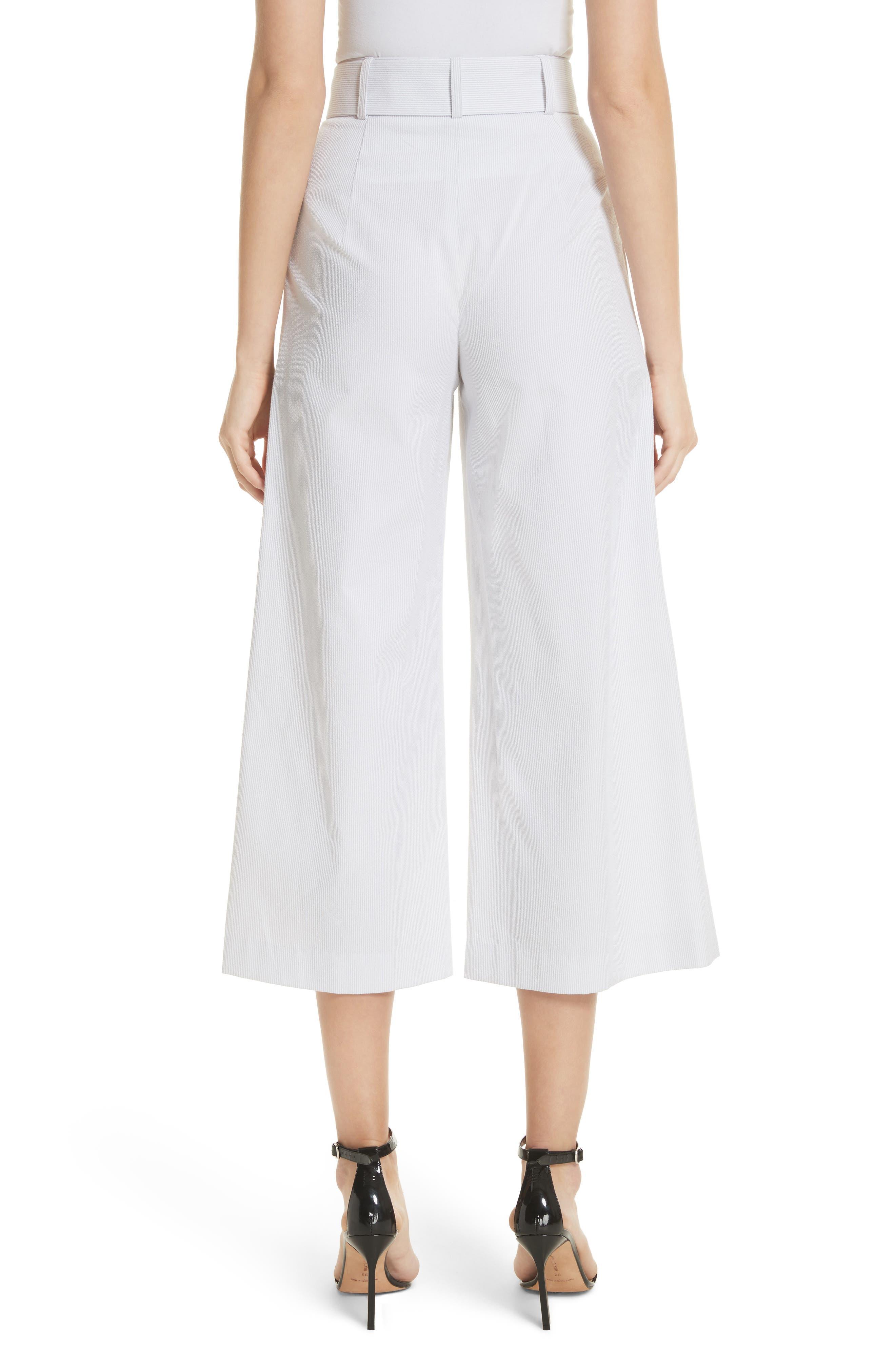 Natalie Crop Tie Waist Pants,                             Alternate thumbnail 2, color,                             020