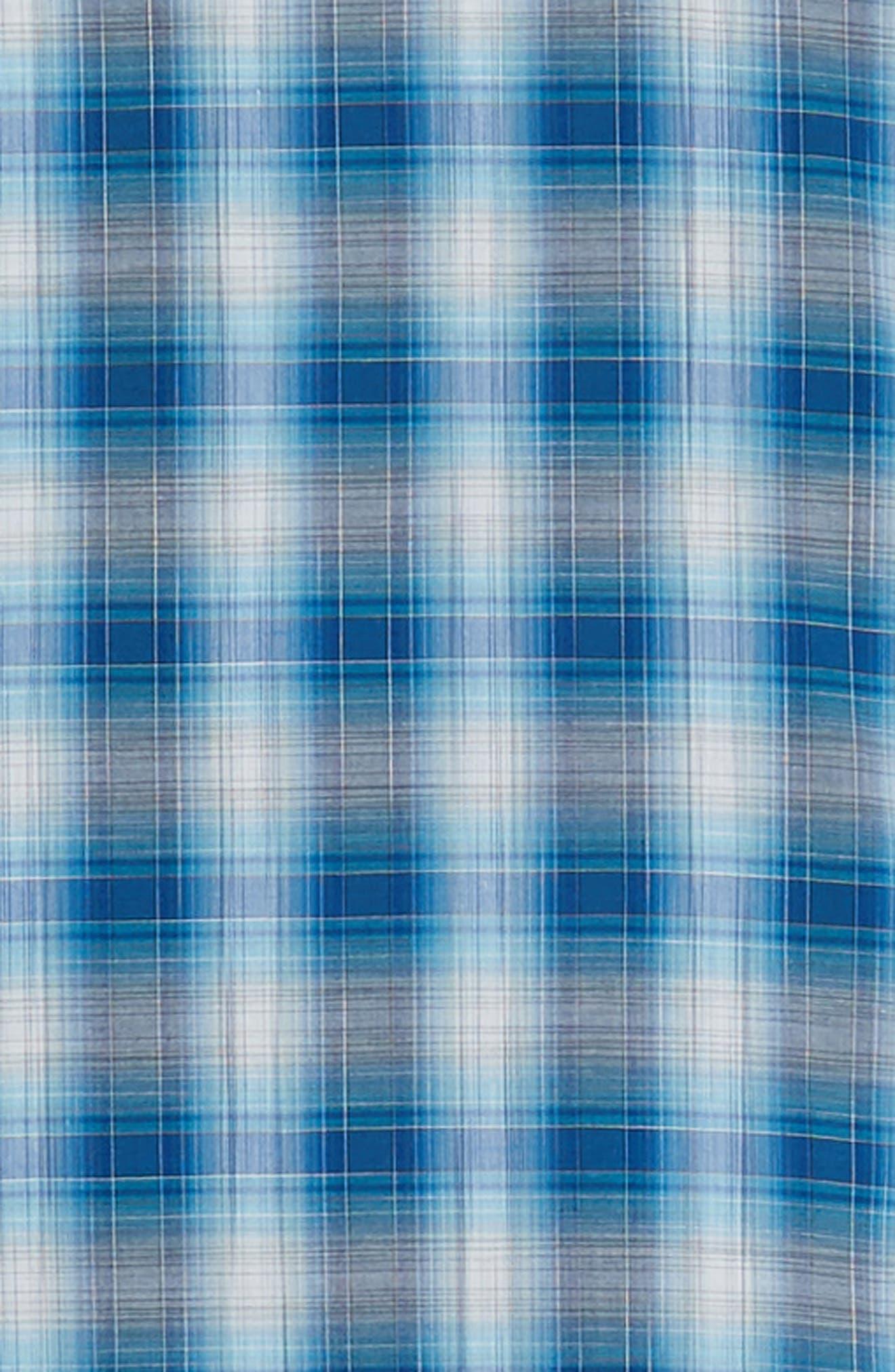 Holtsinger Plaid Sport Shirt,                             Alternate thumbnail 6, color,                             BRIGHT BLUE