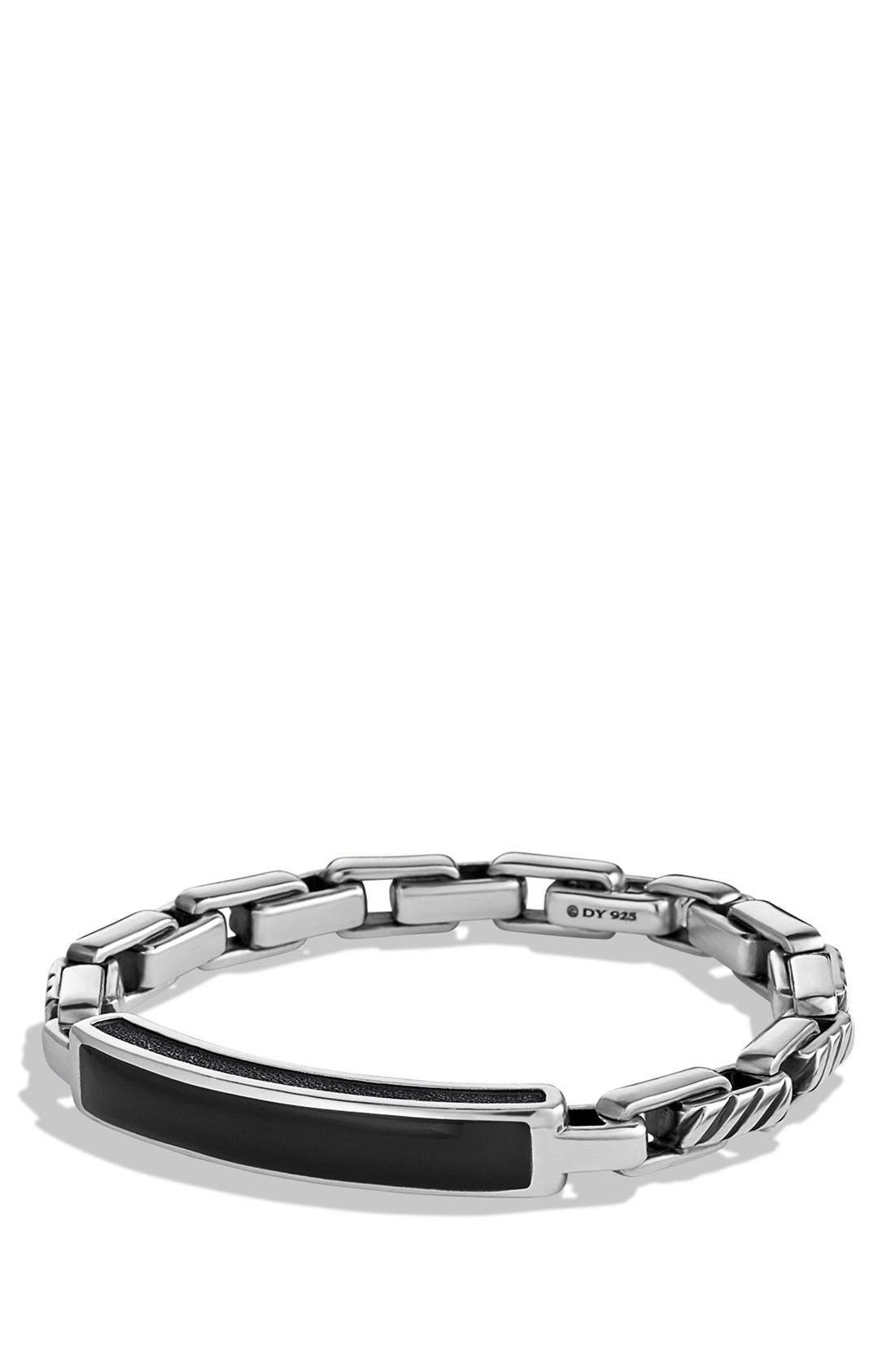 ' Modern Cable' ID Bracelet,                         Main,                         color, 001